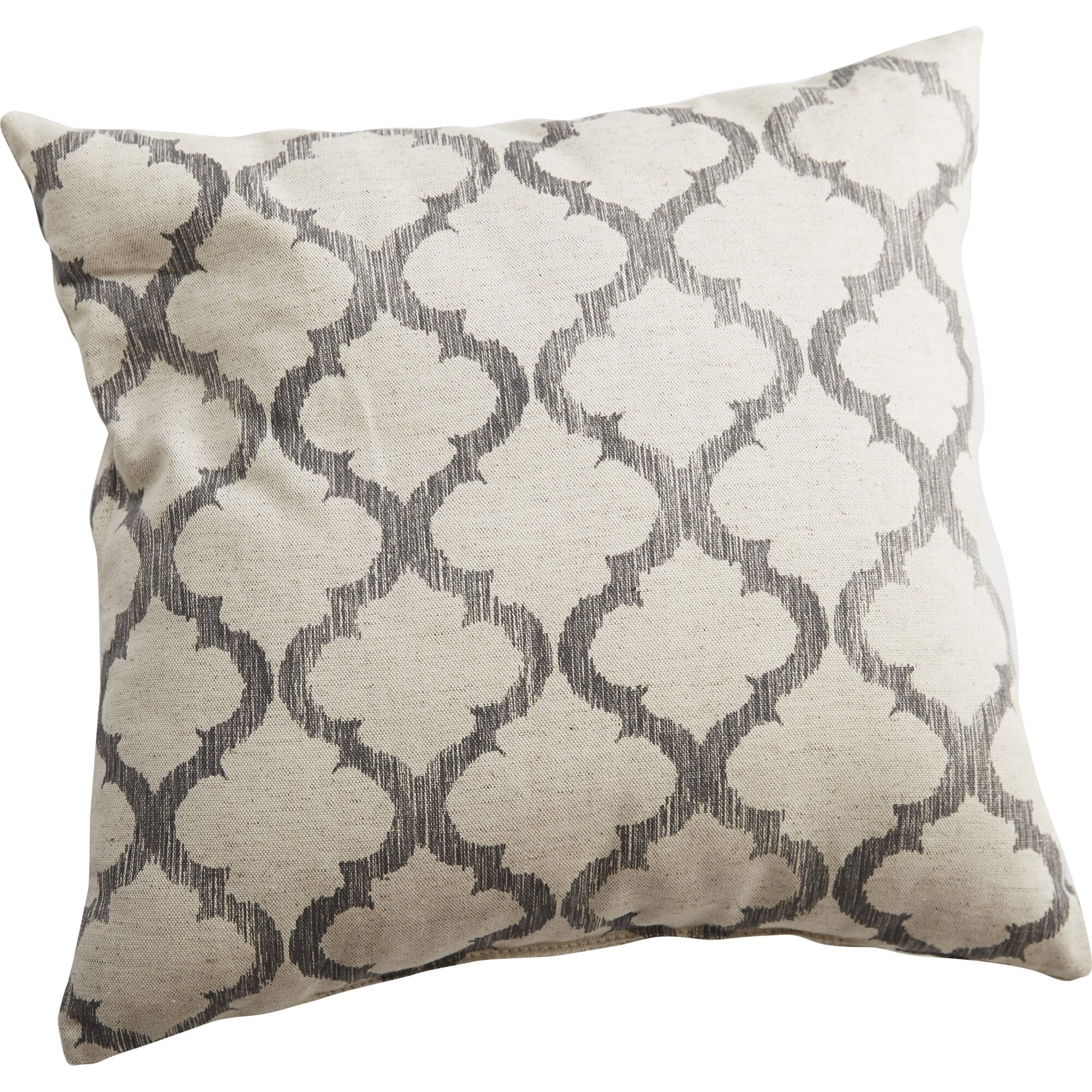 Decorative Pillows Linen : Swan Dye and Printing Linen Throw Pillow & Reviews Wayfair