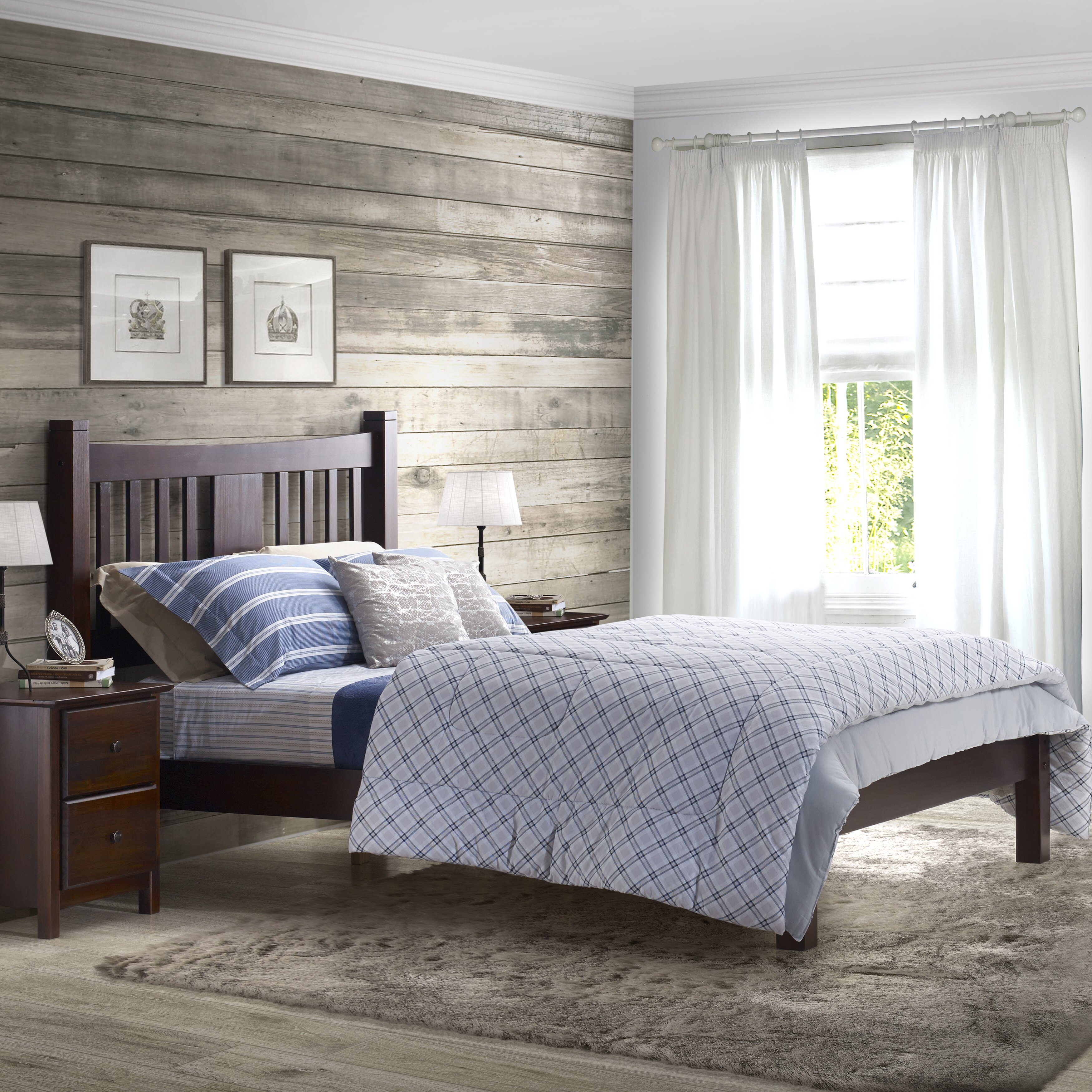 Contemporary Shaker Full Size Platform Bed