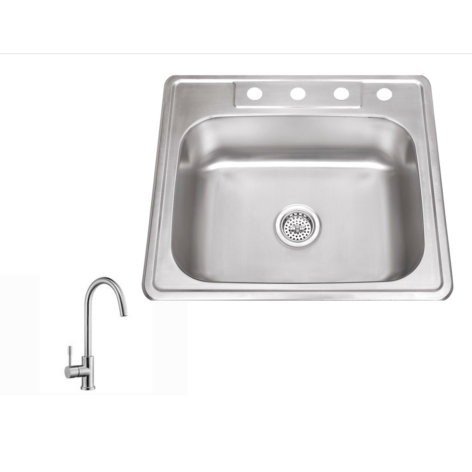 single bowl kitchen sink drop in soleil 25 quot x 22 quot stainless steel drop in single bowl 9304