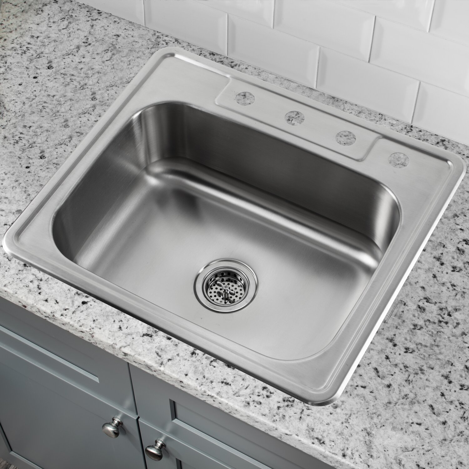 25 stainless steel kitchen sink soleil 25 quot x 22 quot single bowl drop in stainless steel 7308