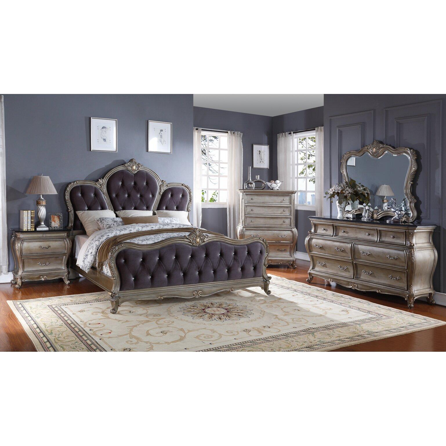 Meridian Furniture Usa Roma Upholstered Storage Panel Bed Reviews Wayfair