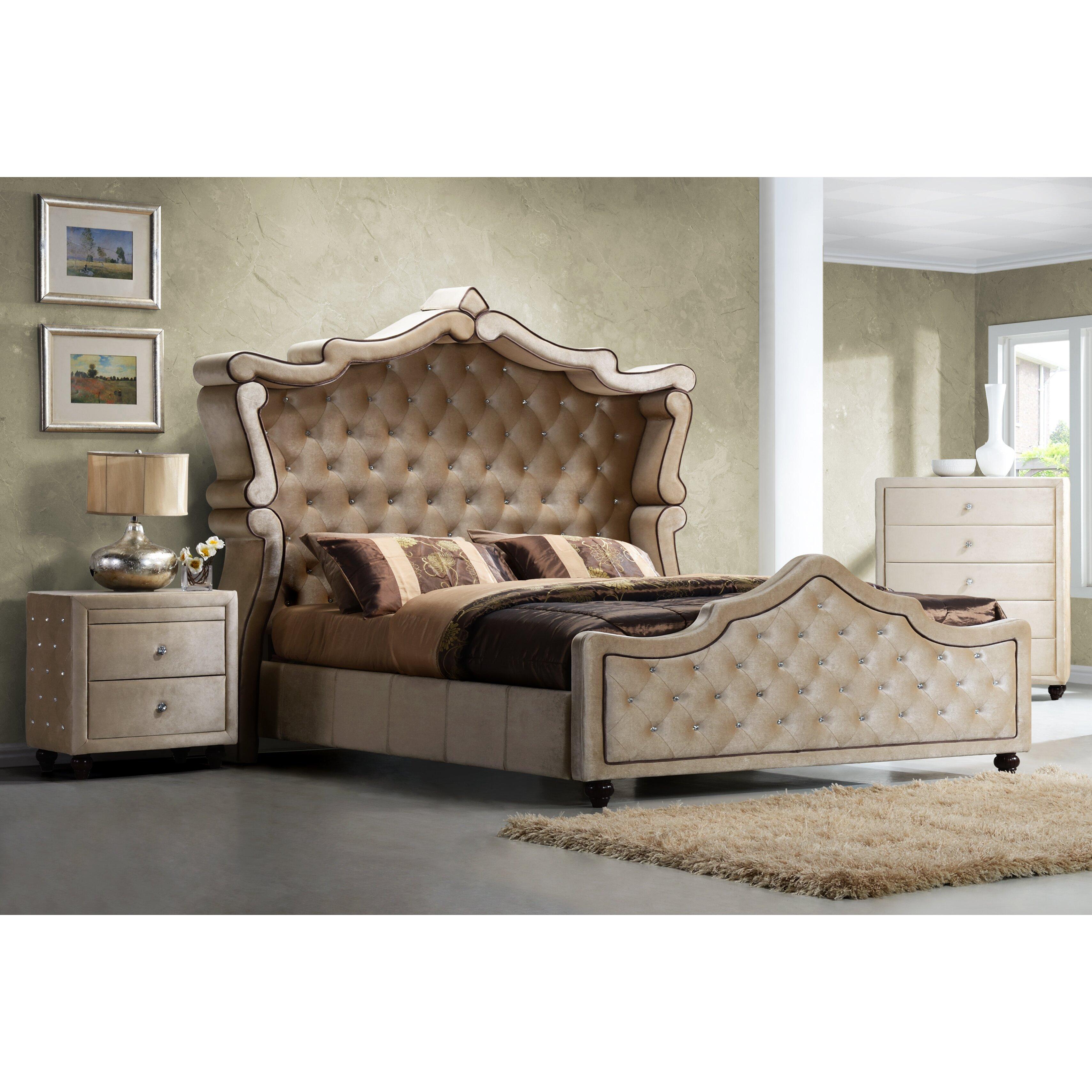 Meridian Furniture Usa Diamond Upholstered Panel Bed Reviews Wayfair