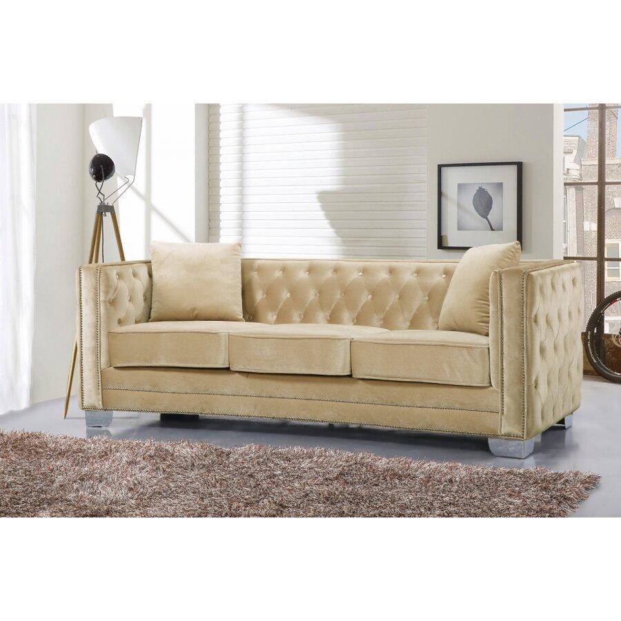 Meridian Furniture Usa Reese Velvet Sofa Reviews