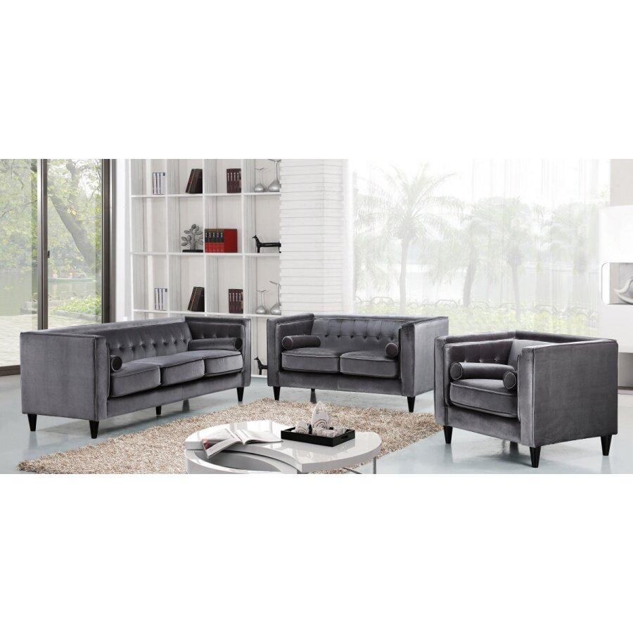 Meridian Furniture Usa Taylor Velvet Loveseat Reviews Wayfair