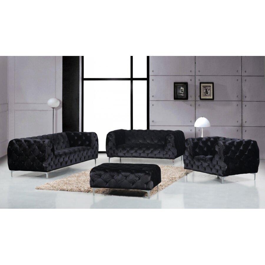 Meridian furniture usa mercer living room collection for Living room furniture collections