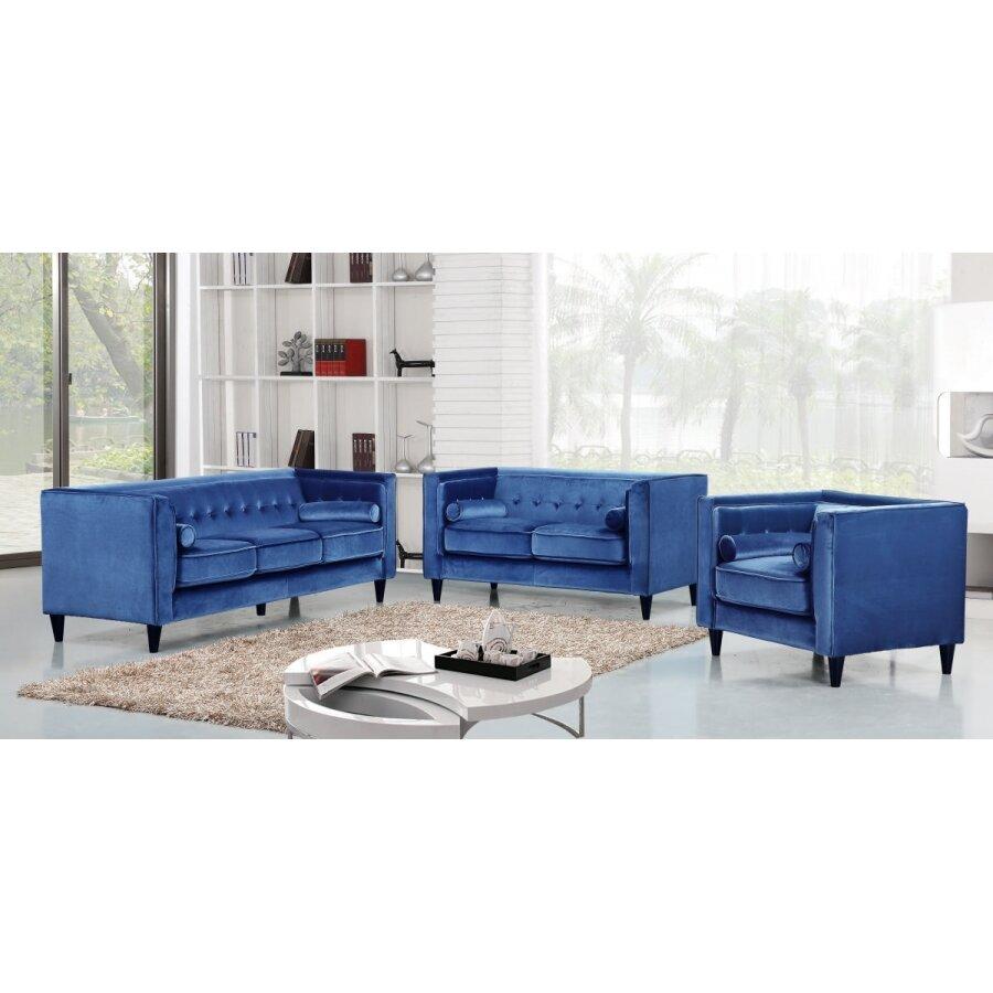 Meridian furniture usa taylor velvet loveseat reviews for Furniture usa