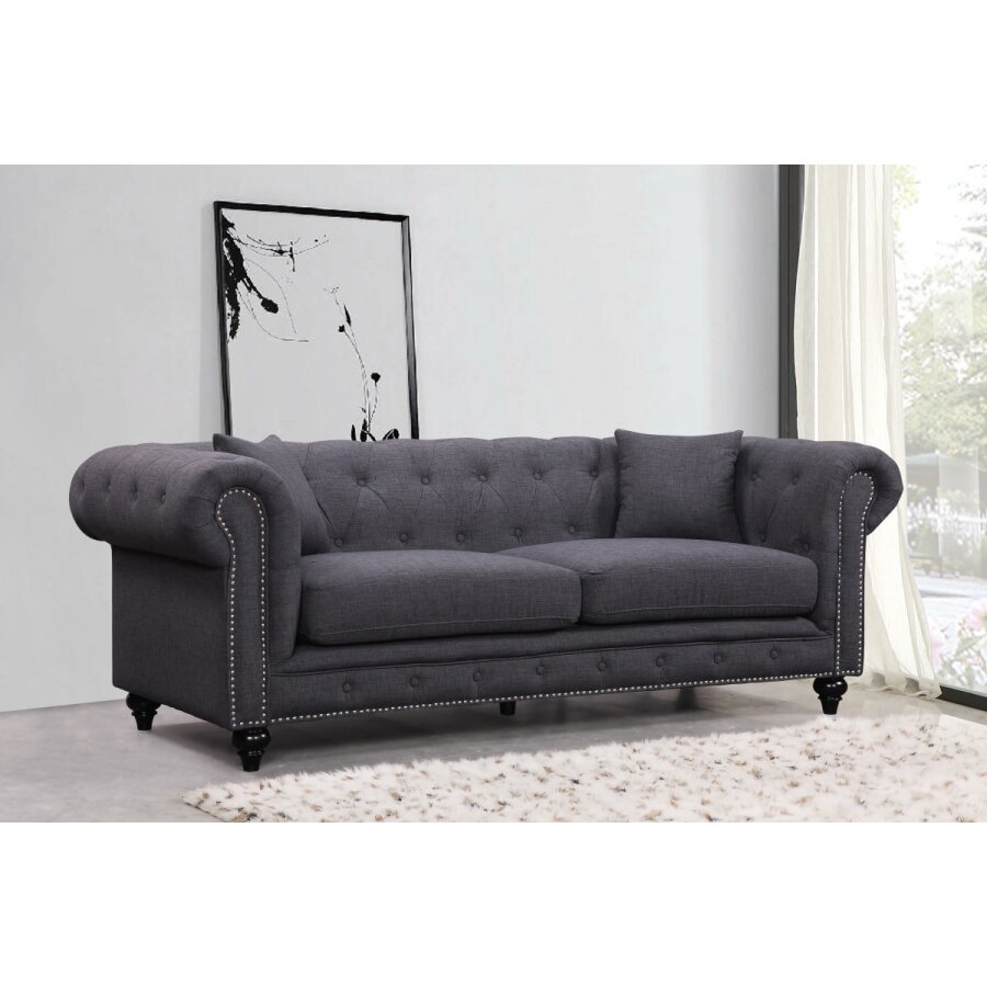 Meridian furniture usa chesterfield living room collection for J furniture usa reviews