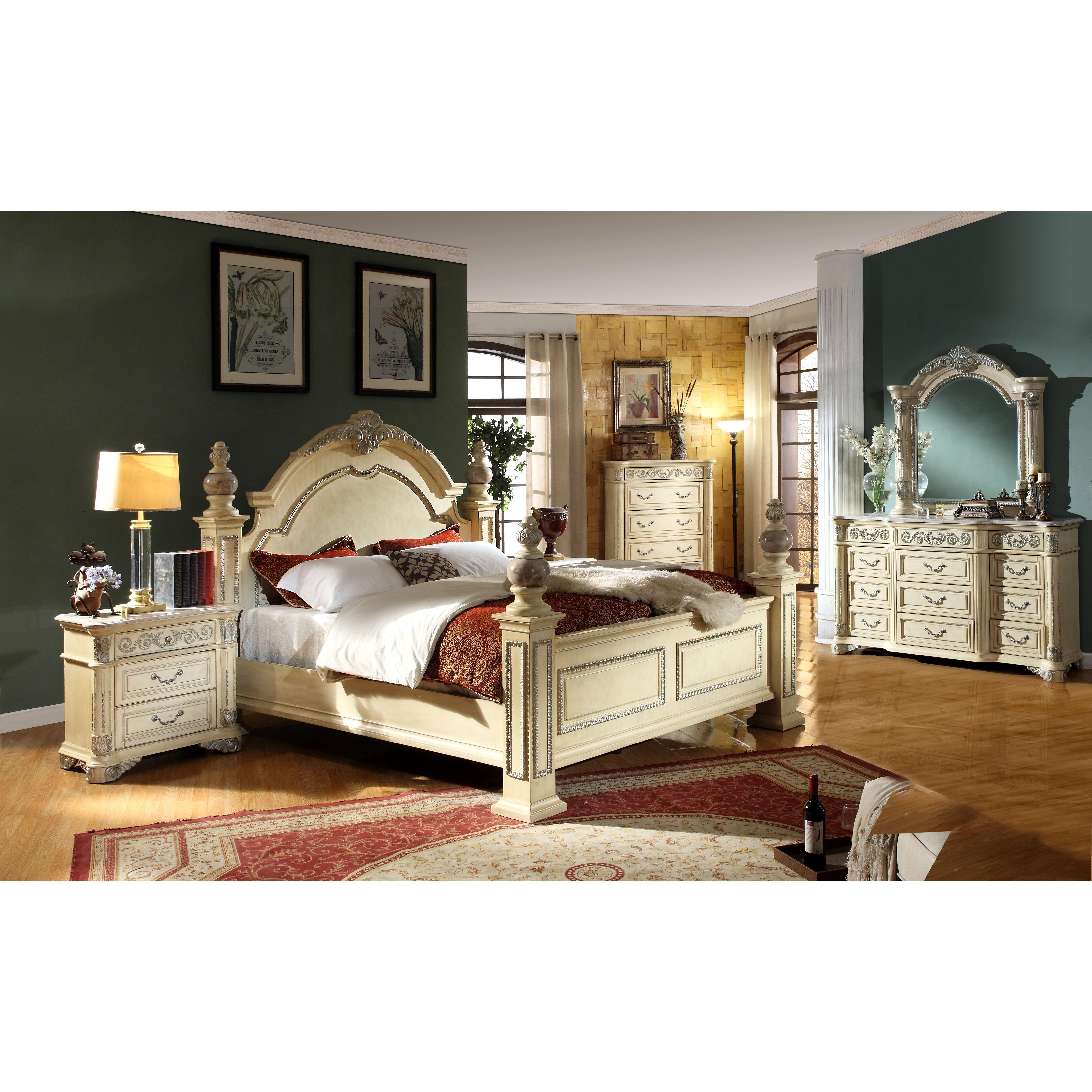 Meridian Bedroom Furniture Marquee Bedroom Set In Pearl White By Meridian Furniture