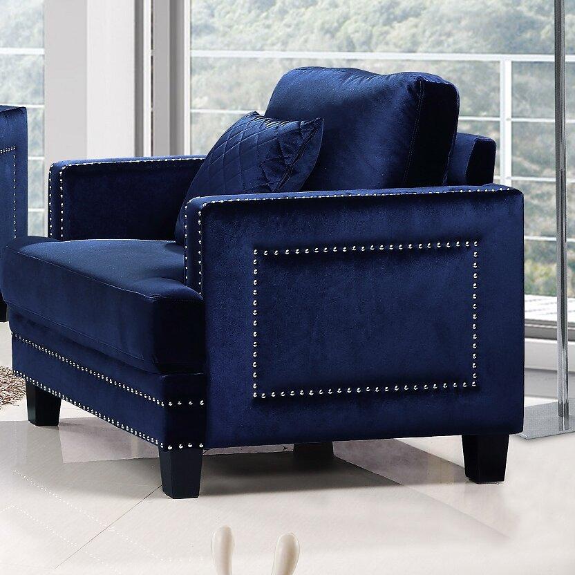 Meridian Furniture Usa Ferrara Nailhead Armchair Reviews Wayfair