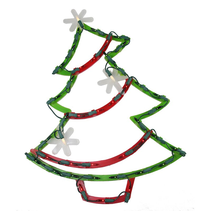 Northlight lighted christmas tree with star ornaments for 17 clear lighted star christmas window silhouette decoration