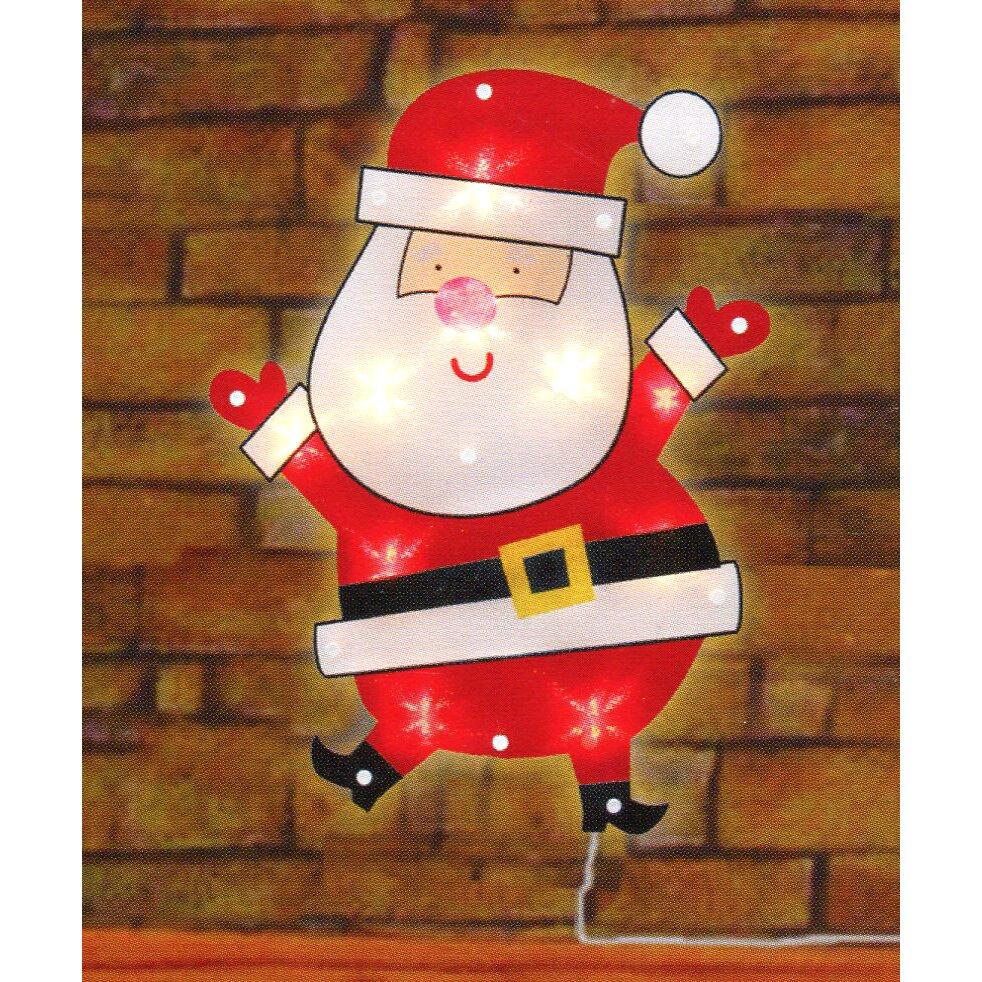 Northlight lighted shimmering santa claus christmas window