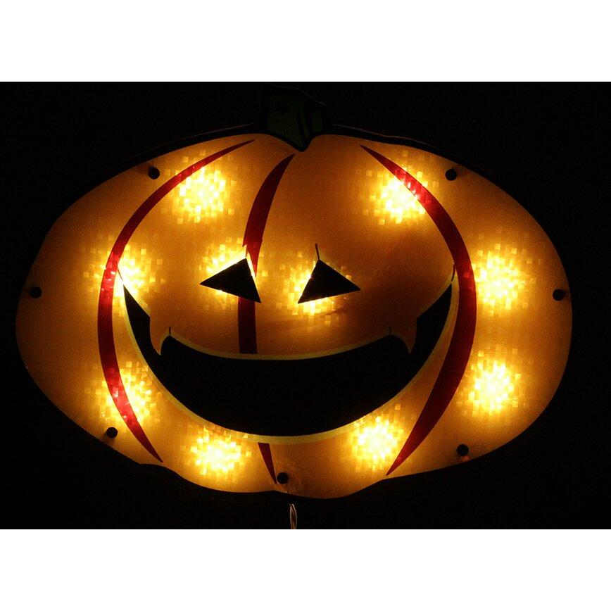 Northlight Lighted Jack O Lantern Pumpkin Holographic