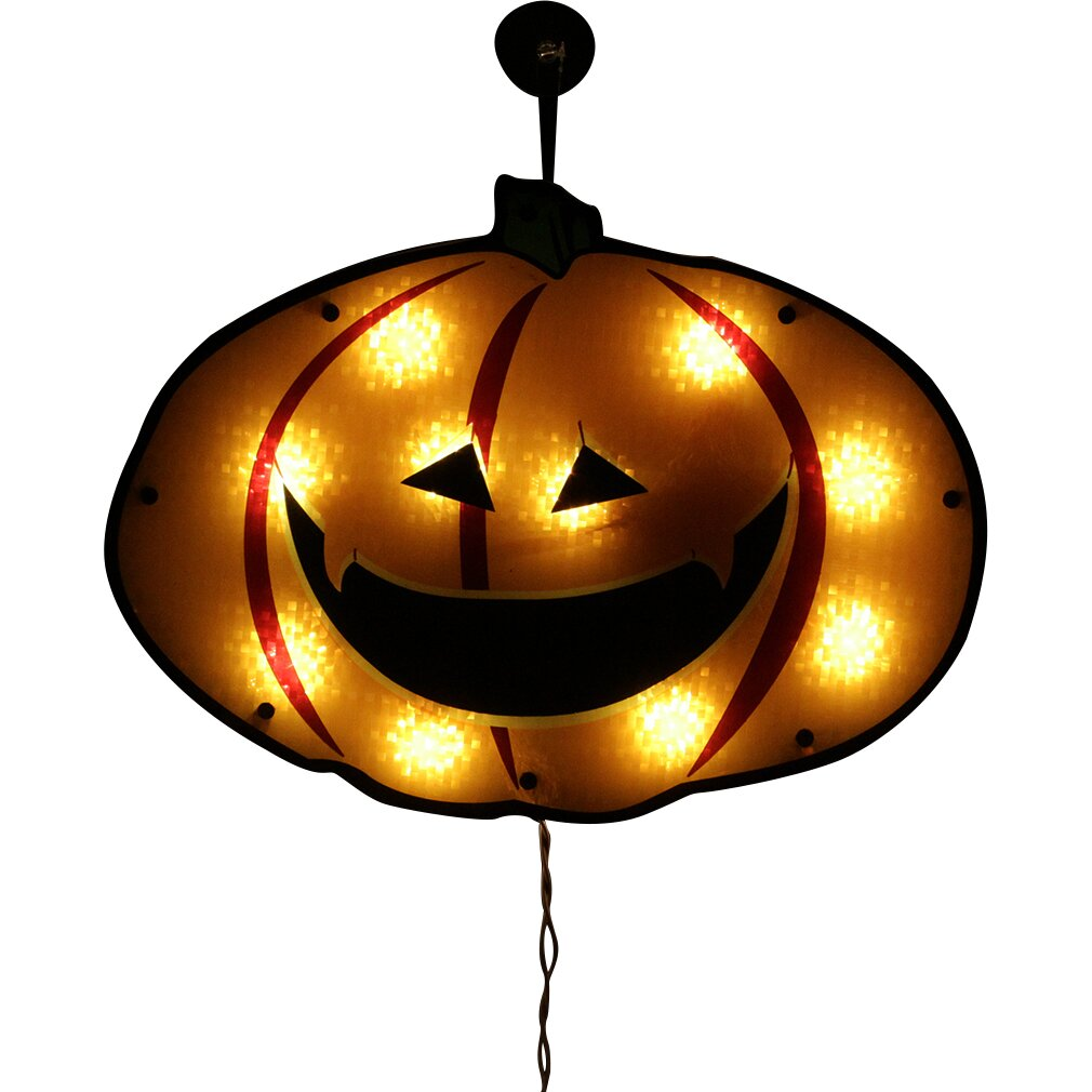Northlight Lighted Jack O Lantern Pumpkin Holographic