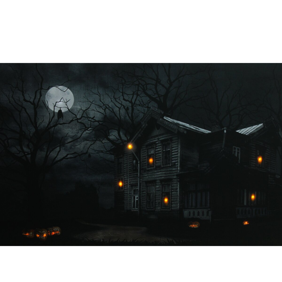 Northlight Moonlit Halloween House Battery Operated Led