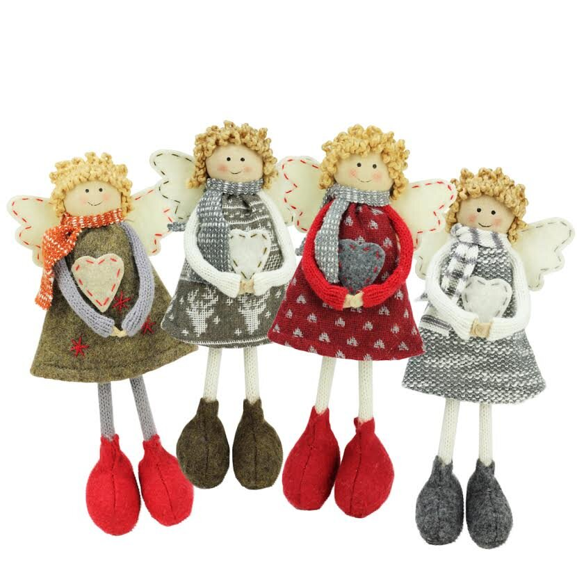 Northlight 4 piece holiday angel sisters standing for Angel of the north christmas decoration