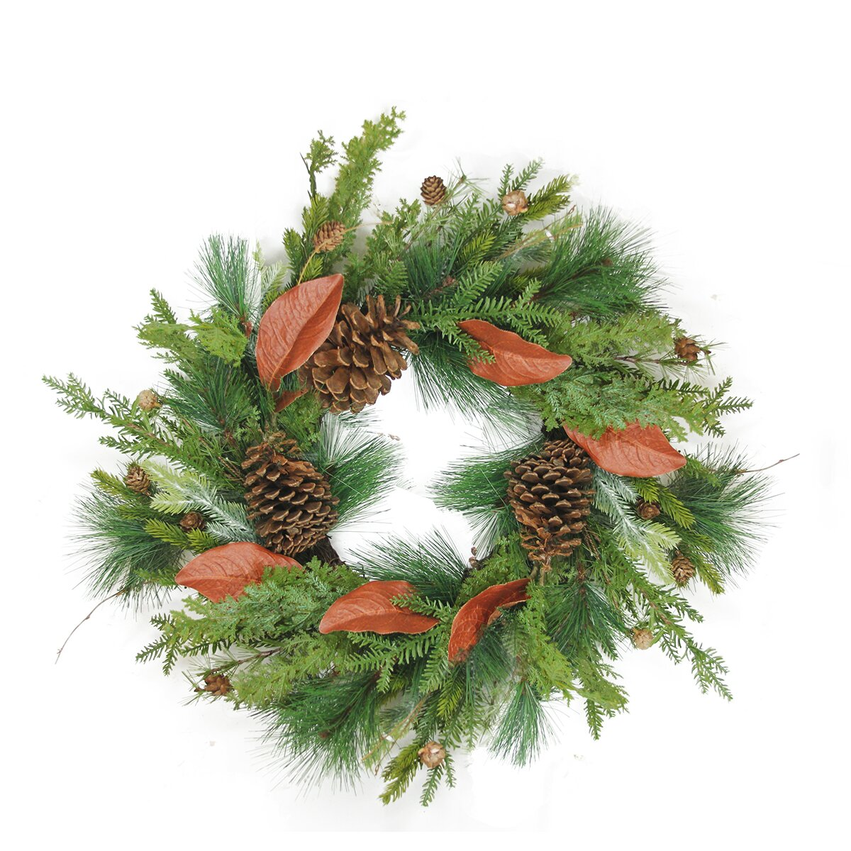 Northlight 26 Mixed Pine With Red Leaves And Pine Cones