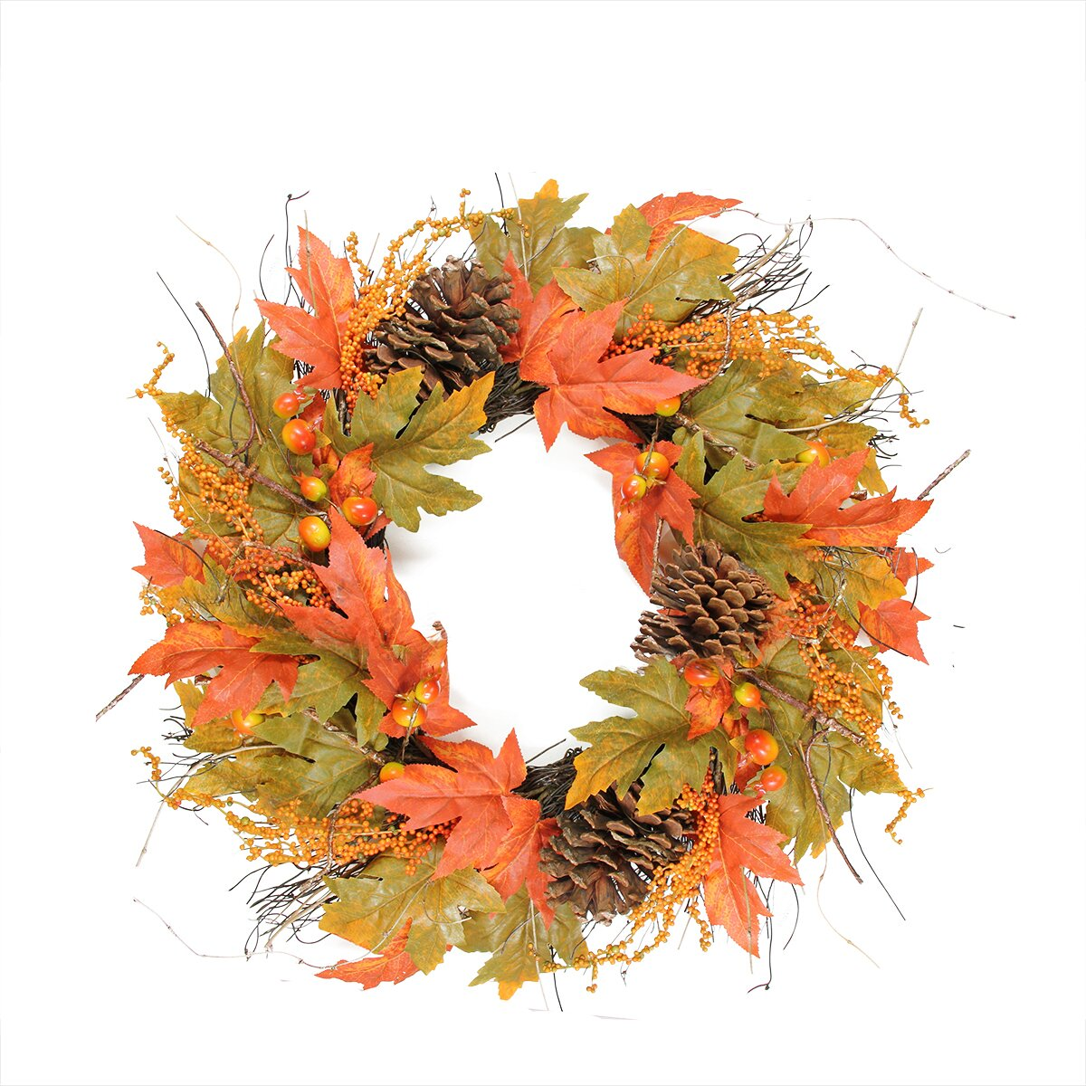 Pine Dining Room Sets Northlight Autumn Harvest 24 Quot Artificial Berries Leaves