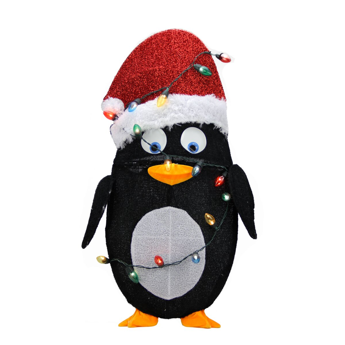 Northlight Candy Lane Pre-Lit Cane 2D Penguin Christmas
