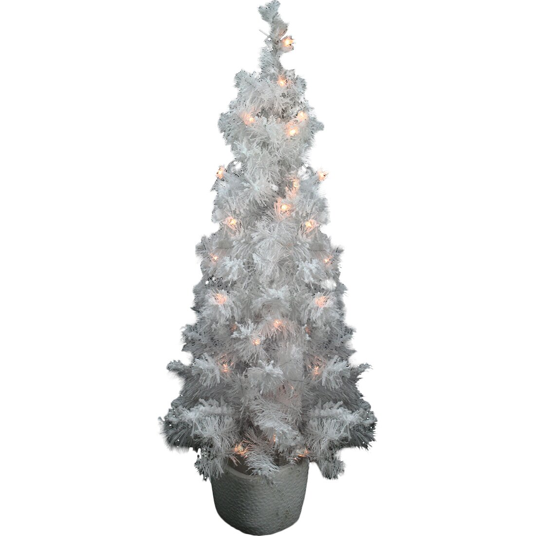 Northlight 3.5' White Artificial Christmas Tree with 35 ...