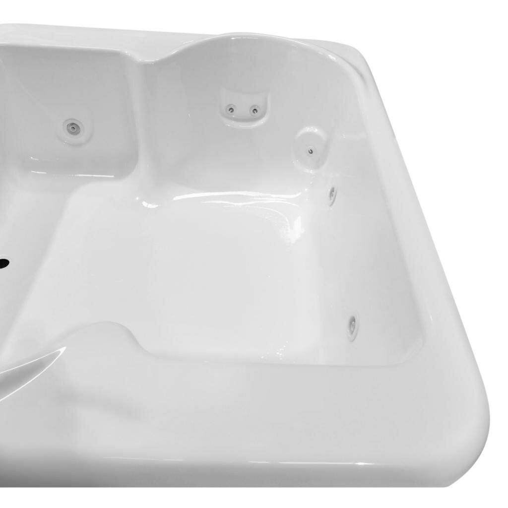 Carver tubs hygienic aqua massage 72 x 60 whirlpool bathtub wayfair - Aqua whirlpools ...