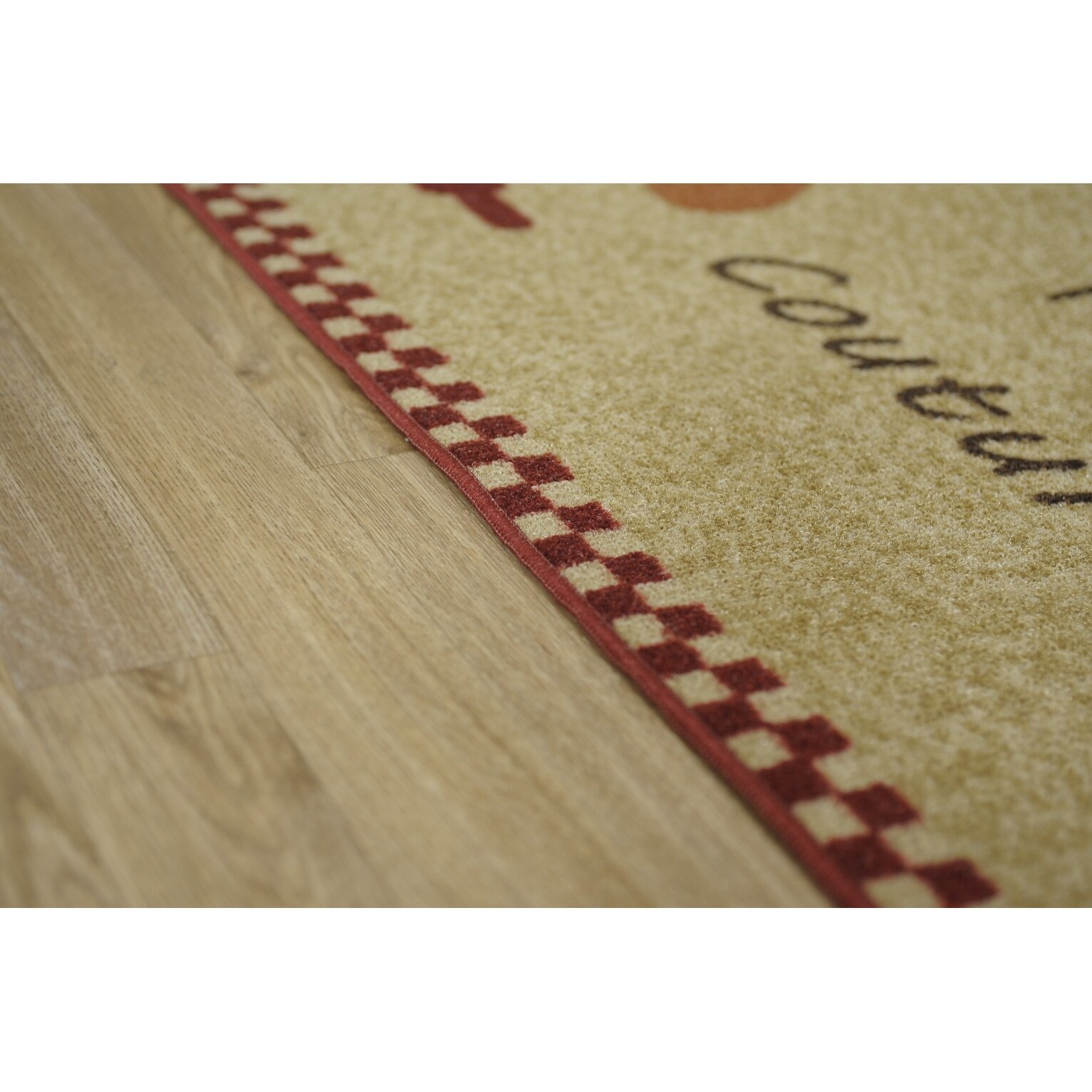 Rugnur Cucina Couture Red/Ivory Kitchen Area Rug
