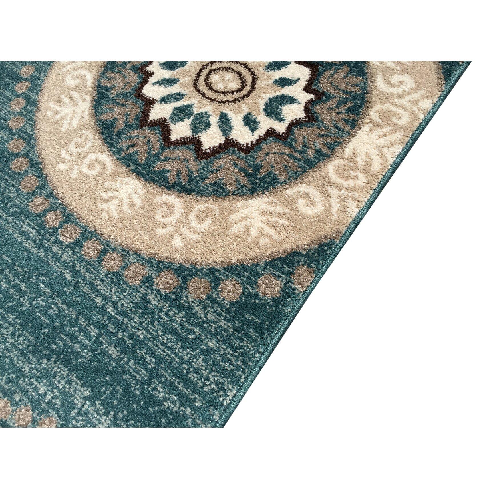 Teal Area Rug: Rugnur Zahra Teal Area Rug & Reviews