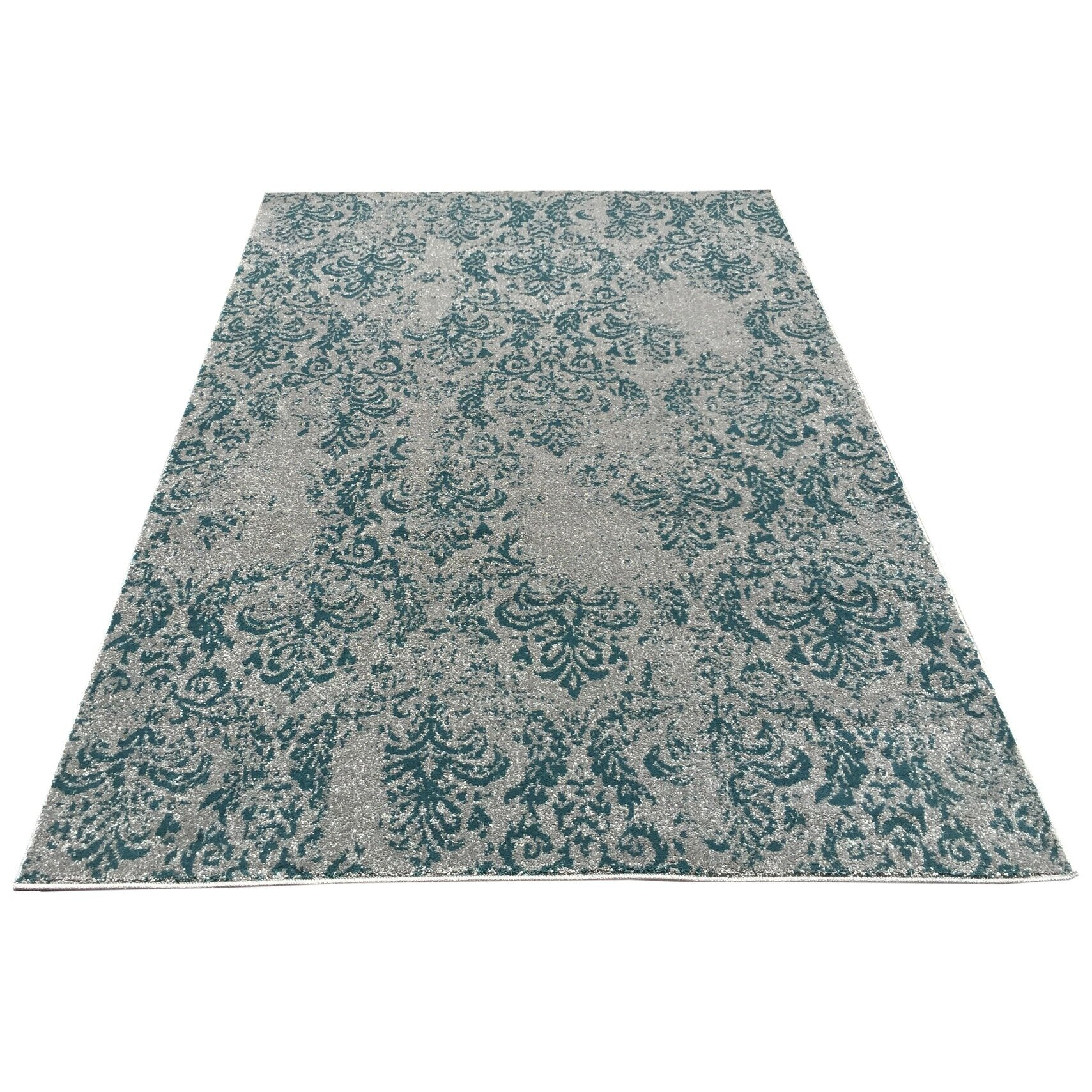 Rugnur Zahra Teal/Blue Indoor/Outdoor Area Rug