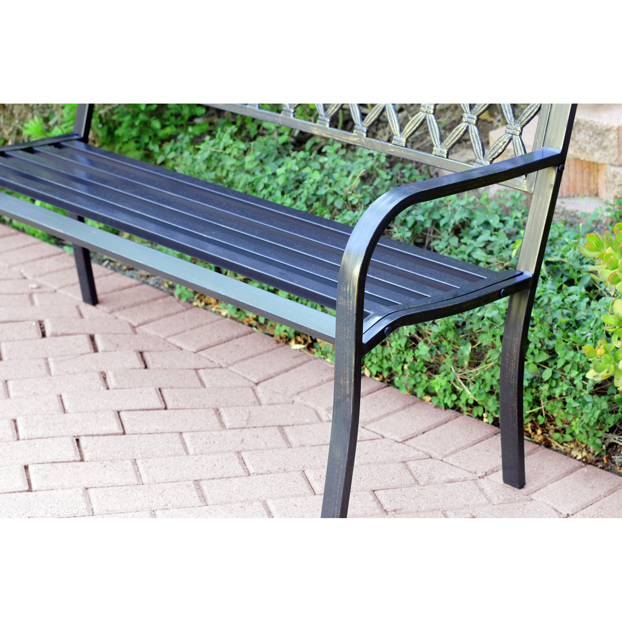 Darby Home Co Ruhamah Steel Park Bench Reviews Wayfair