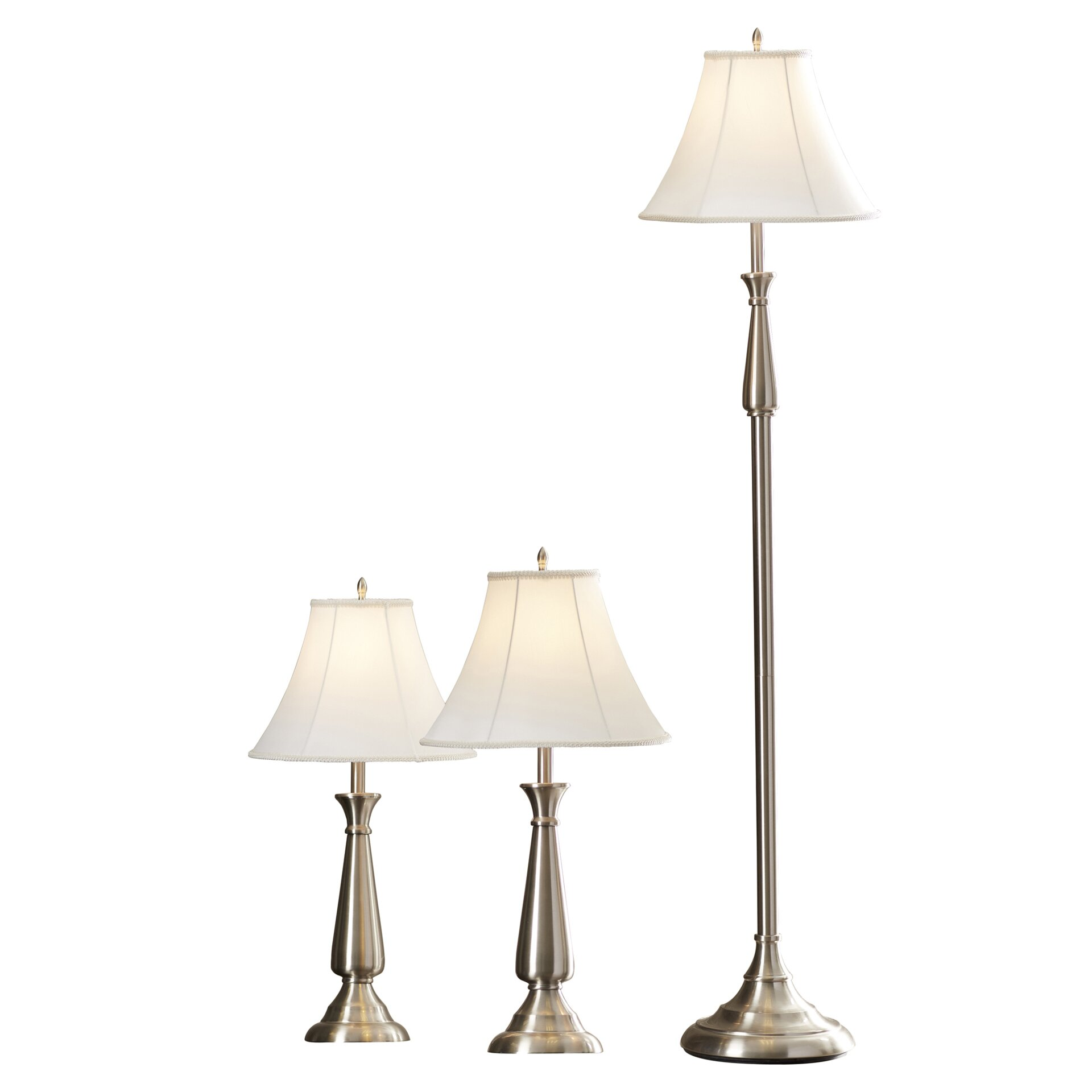 Darby home co marion 3 piece table and floor lamp set for Floor lamp with table