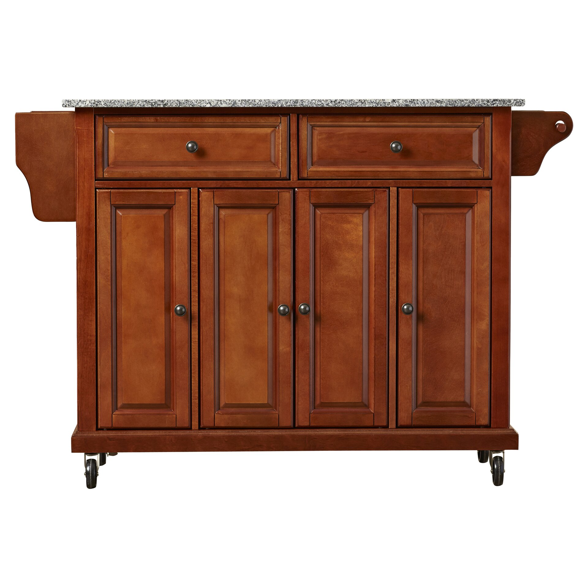 Darby Home Co Pottstown Kitchen Cart Island With Granite Top Reviews