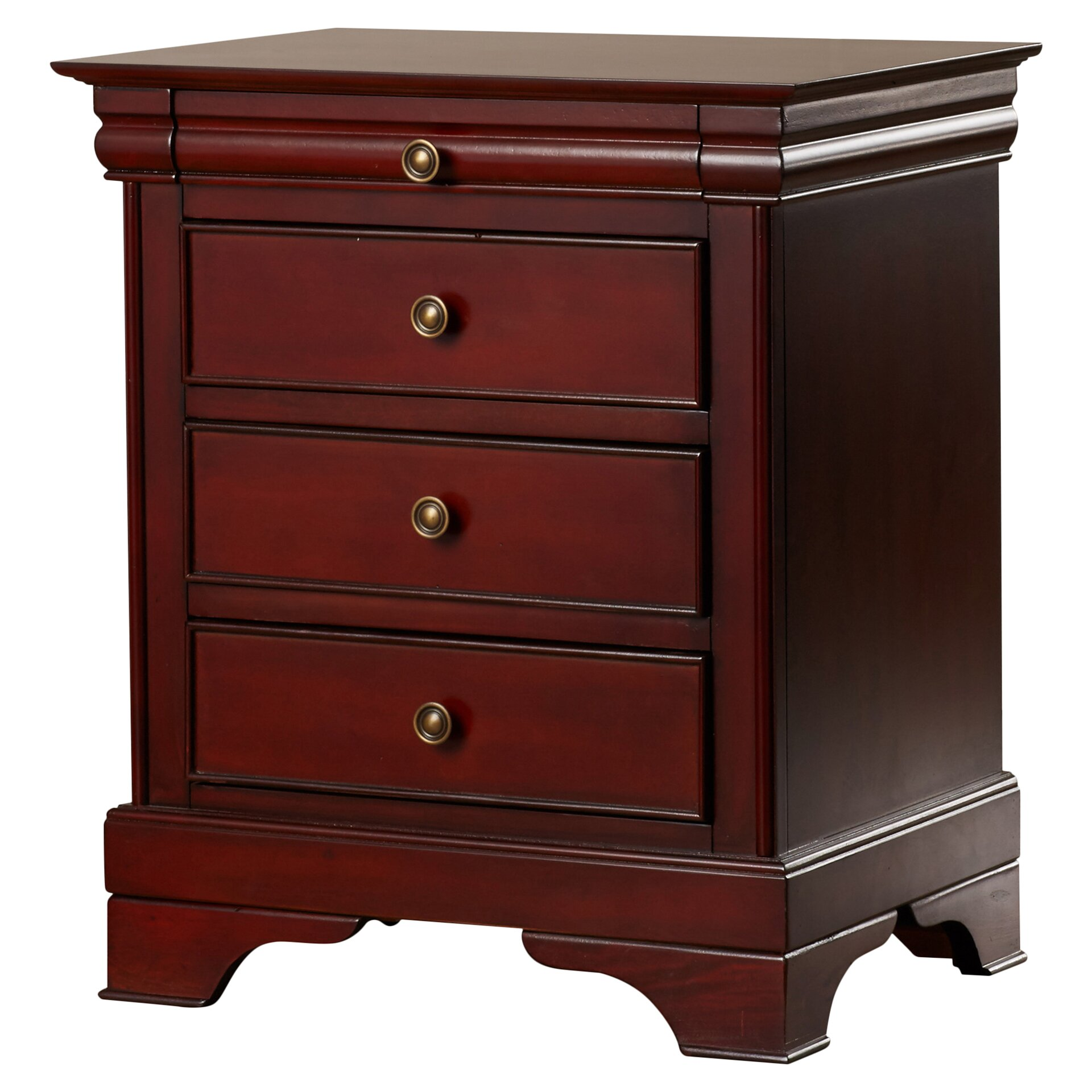 Darby Home Co Maquon 3 Drawer Nightstand Amp Reviews Wayfair