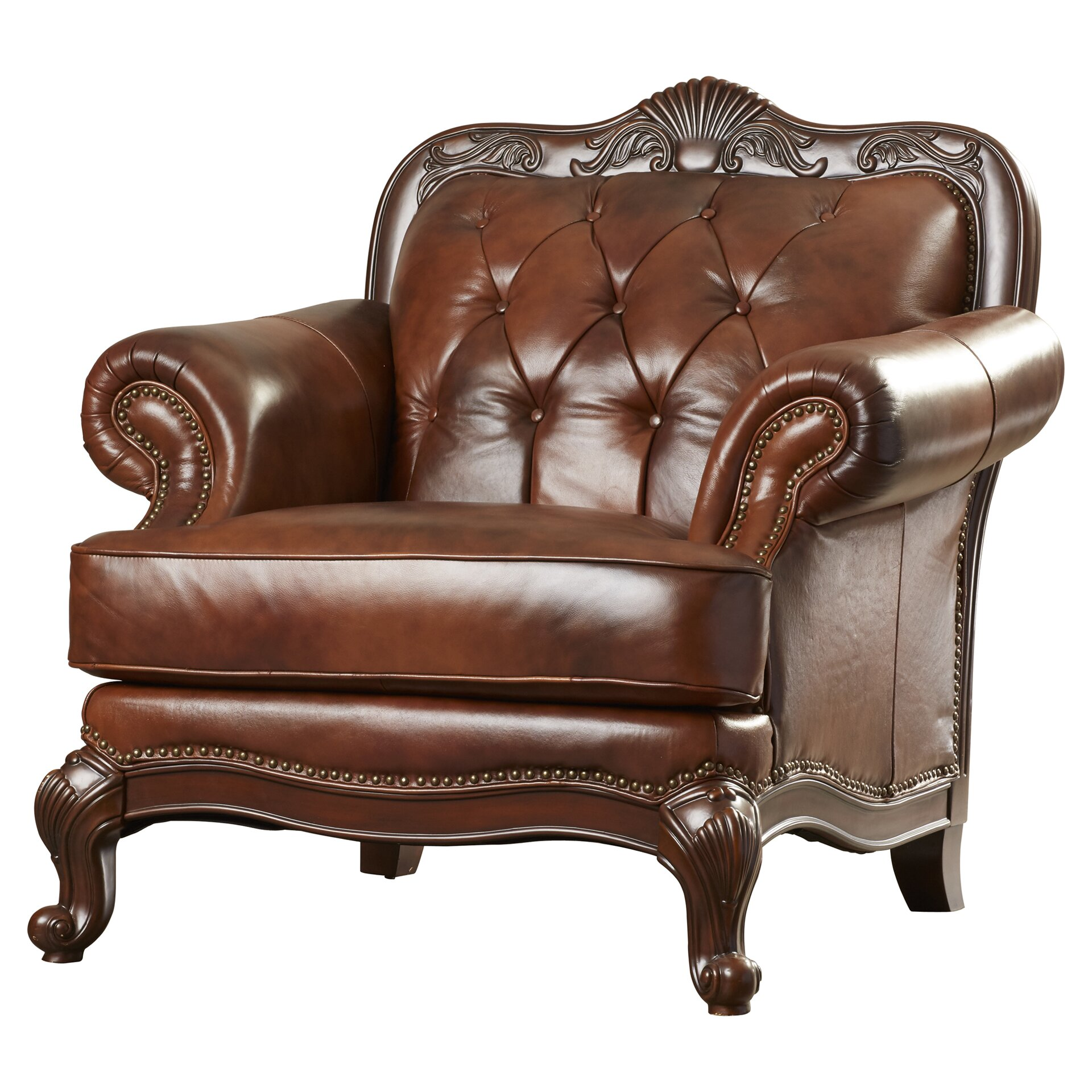 Darby Home Co Smith Leather Club Chair Amp Reviews Wayfair