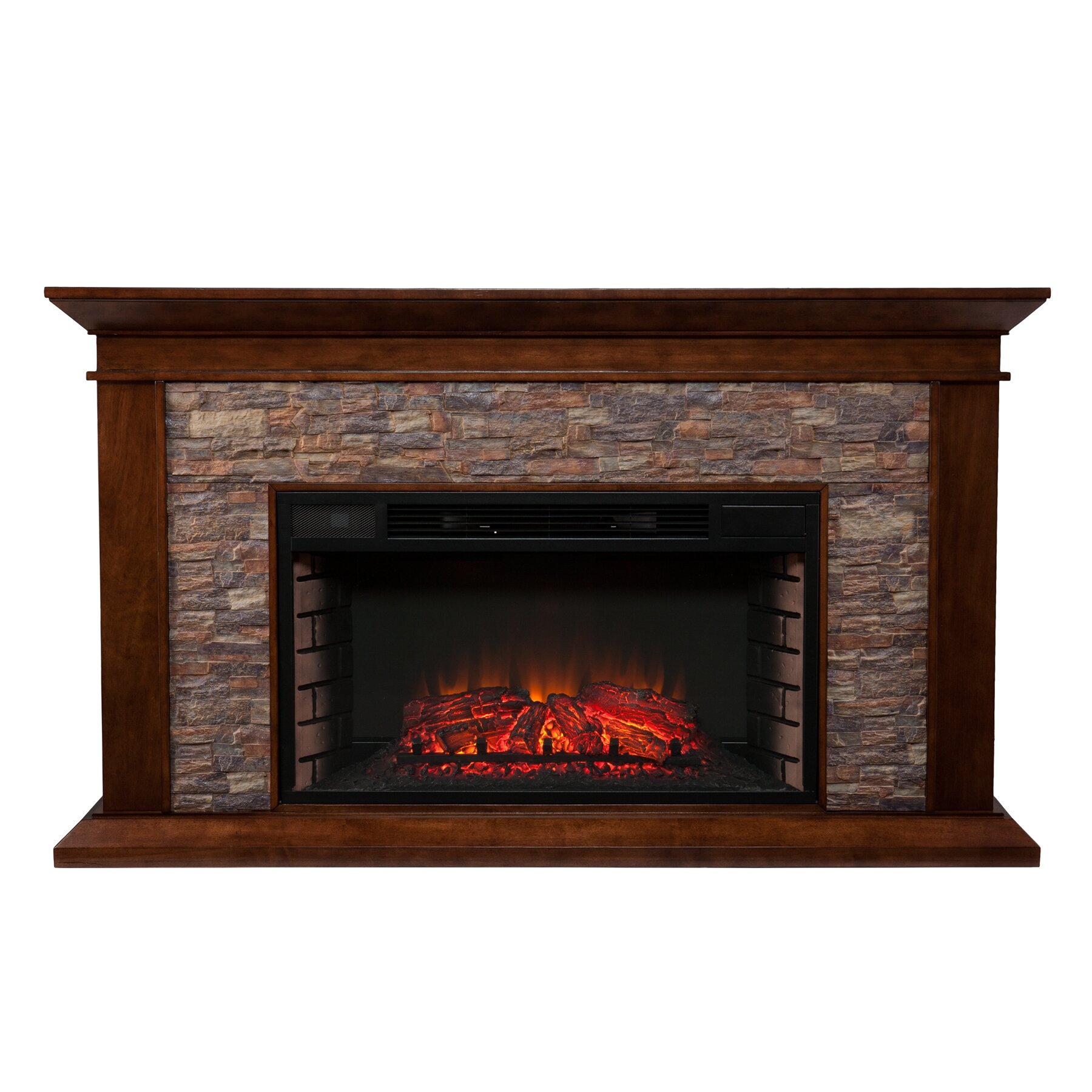 Darby Home Co Simulated Electric Fireplace & Reviews | Wayfair