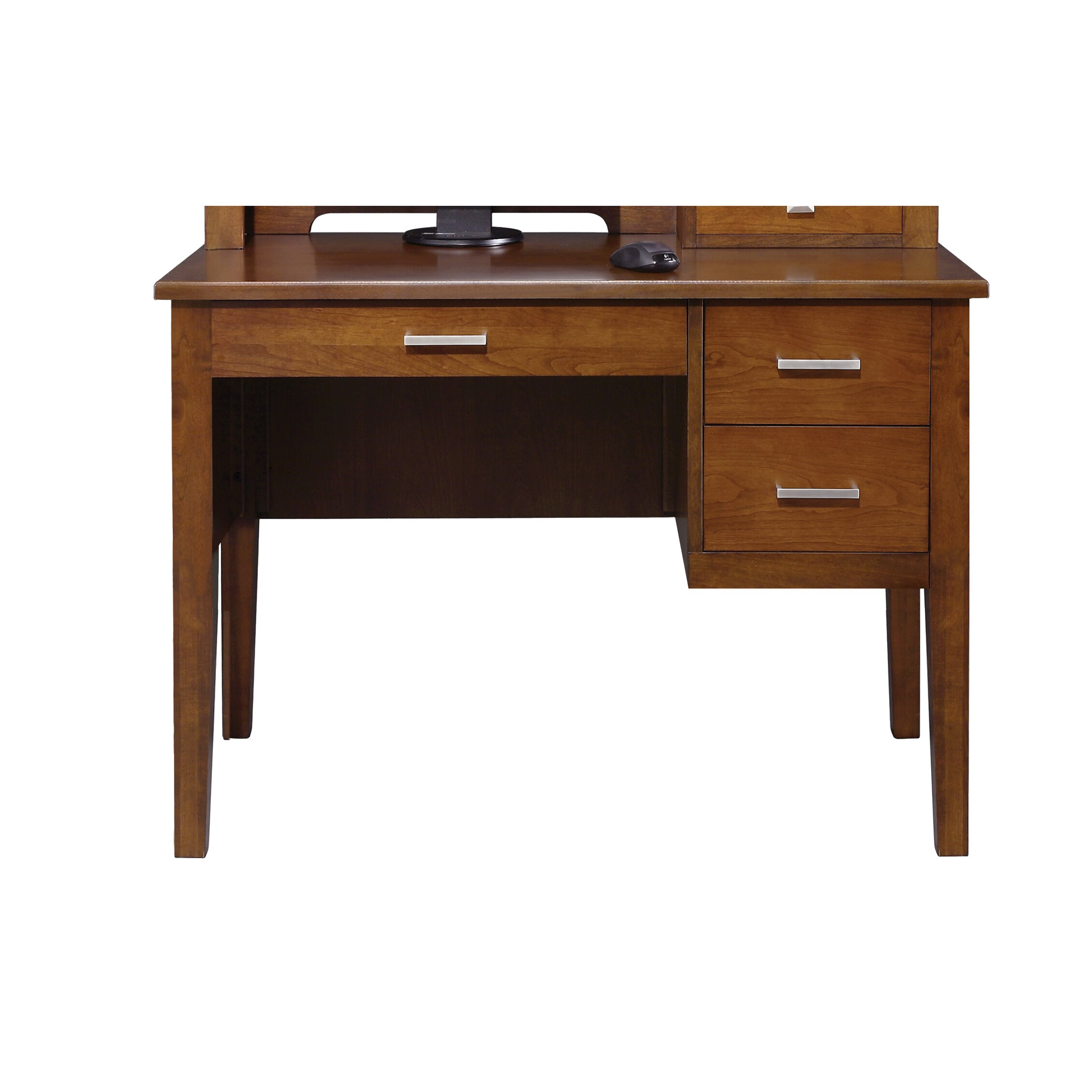 darby home co computer desk with hutch and keyboard tray reviews wayfair. Black Bedroom Furniture Sets. Home Design Ideas