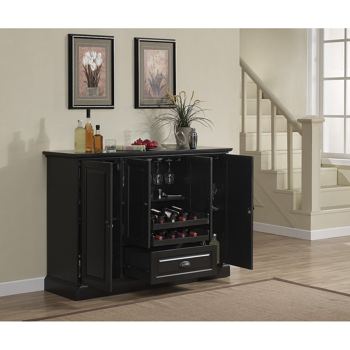 Home Wine Bar: Darby Home Co Styward Bar Cabinet With Wine Storage