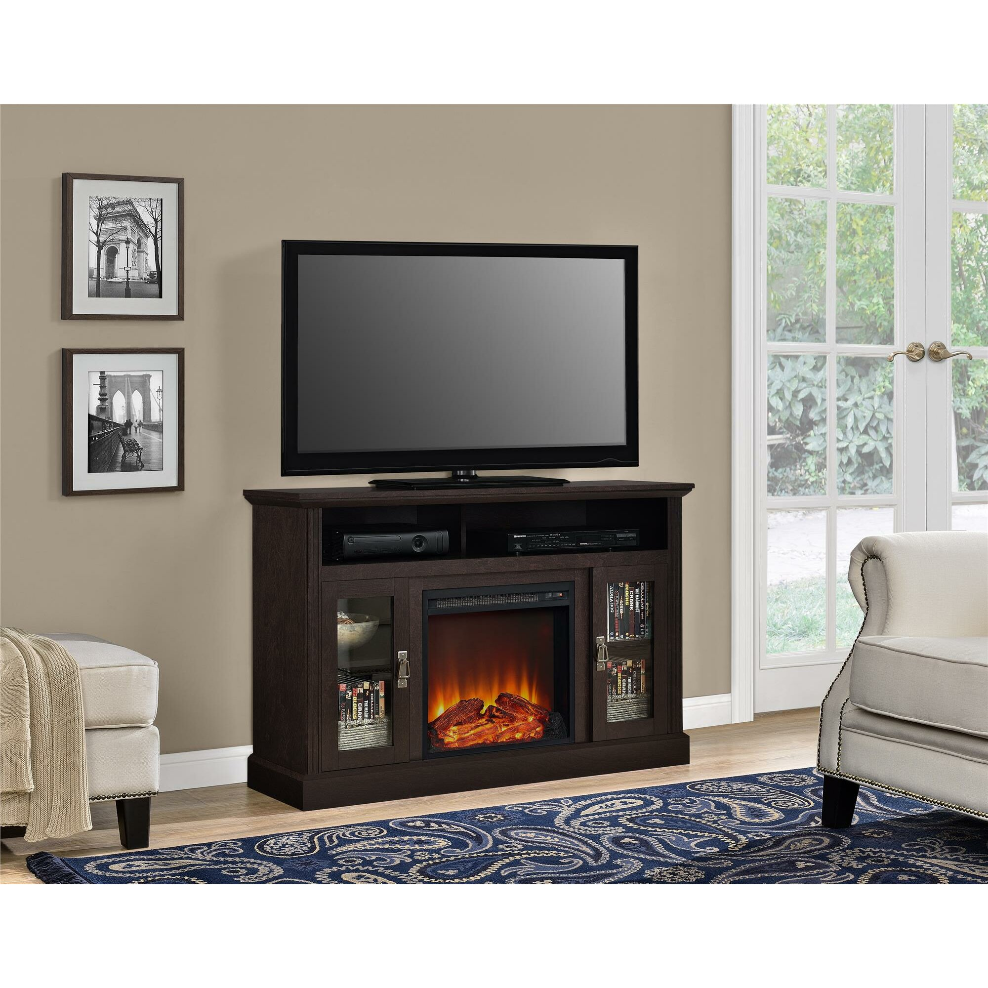 Darby Home Co Cristemas Fireplace Tv Console Reviews Wayfair