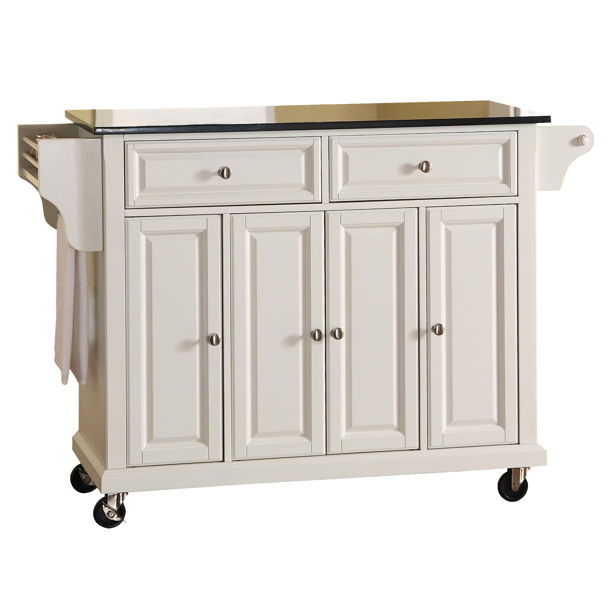 Darby Home Co Pottstown Kitchen Island with Granite Top ...
