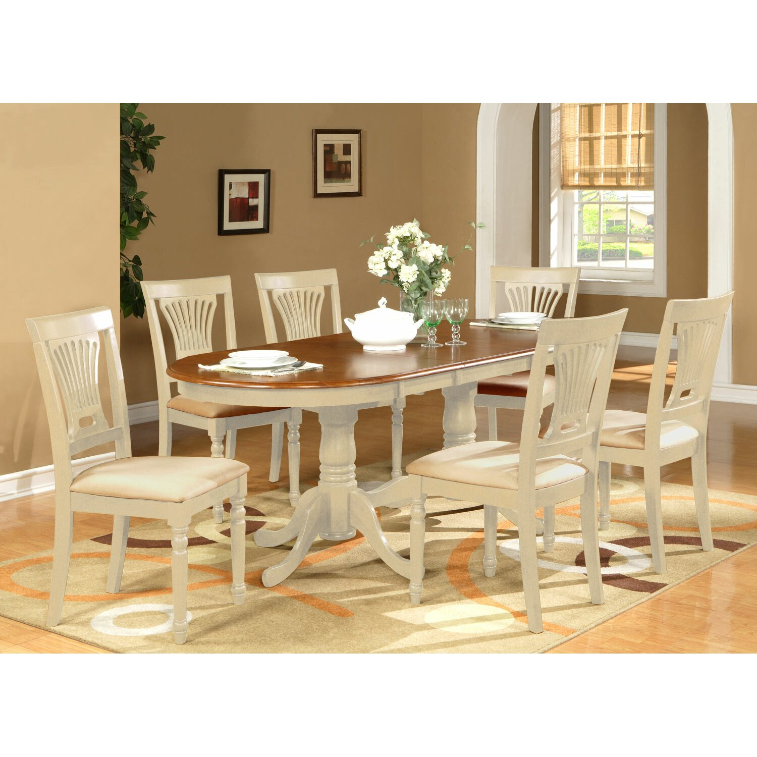 Darby home co germantown 7 piece dining set reviews for 2 piece dining room set