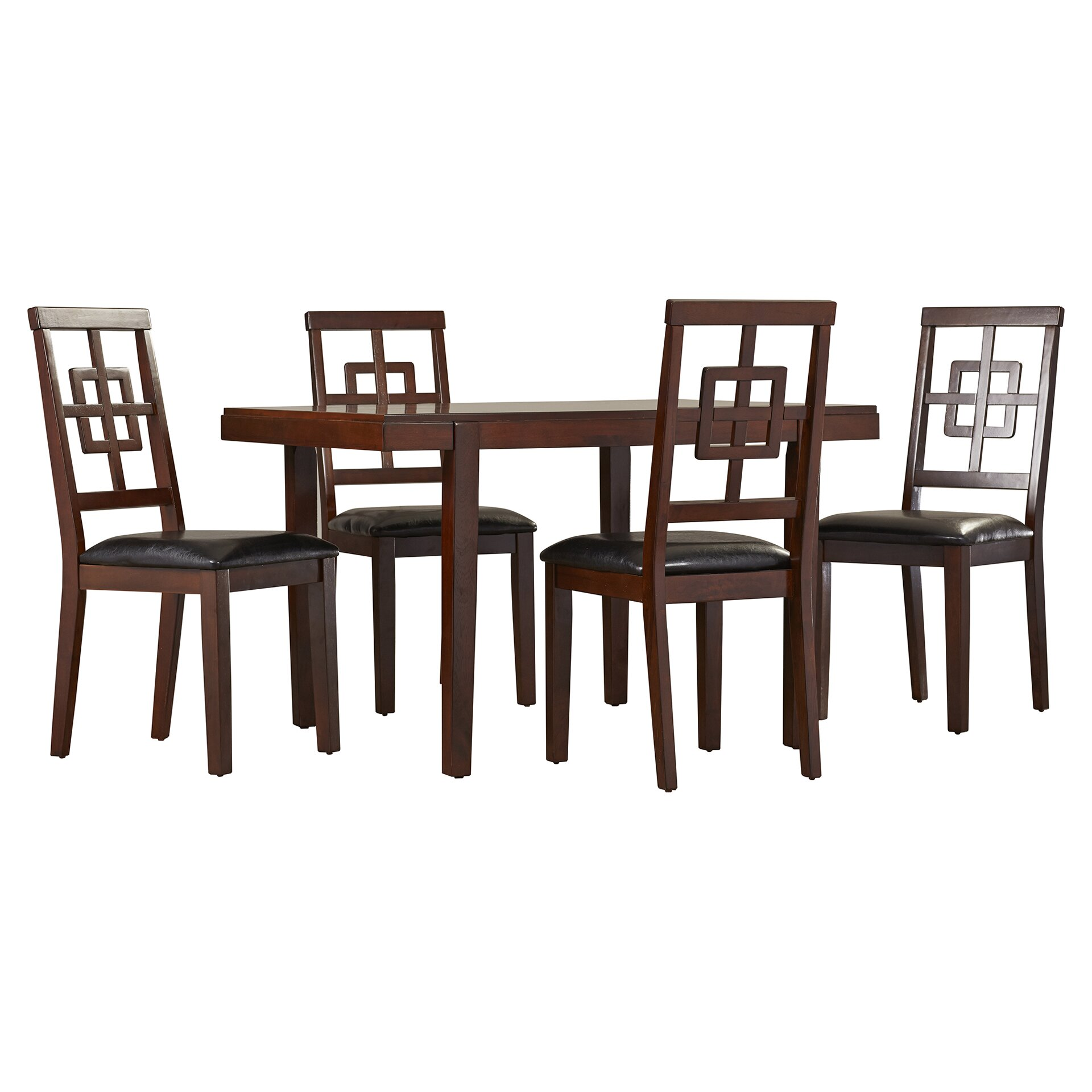 Dining Furniture 5 Piece Kitchen & Dining Room Sets Darby Home Co. Full resolution  portrait, nominally Width 1920 Height 1920 pixels, portrait with #3B2821.