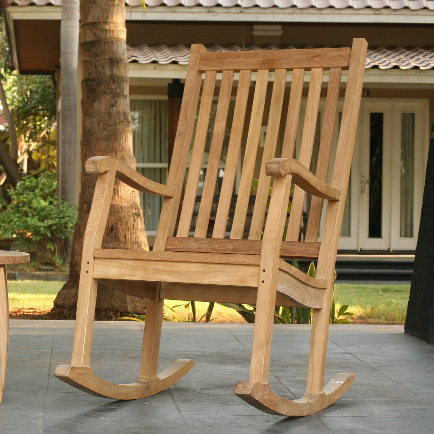 Patio Furniture ... Wood Patio Rocking Chairs & Gliders Darby Home Co ...
