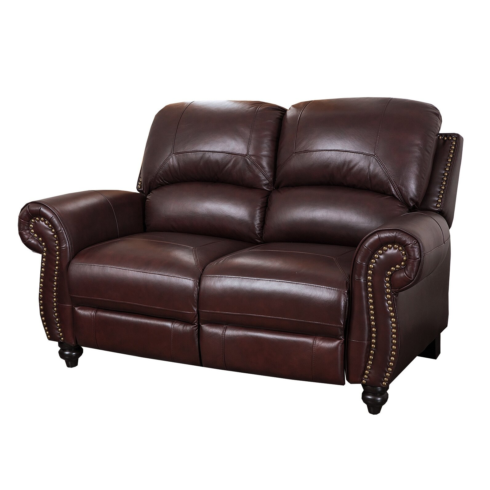 Darby home co kahle leather reclining loveseat reviews wayfair Leather loveseat recliners
