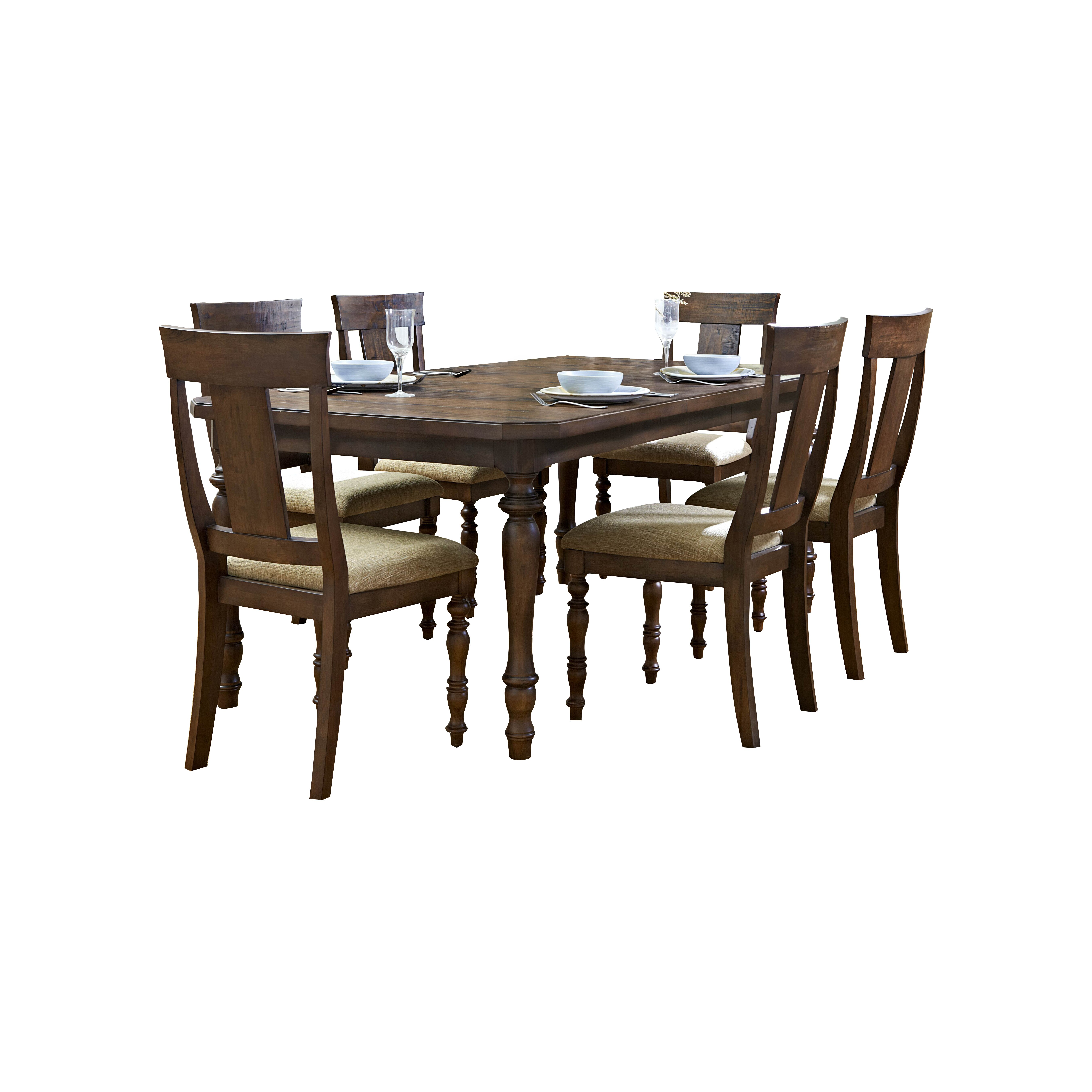 Dining Furniture 7 Piece Kitchen & Dining Room Sets Darby Home Co. Full resolution  portrait, nominally Width 5400 Height 5400 pixels, portrait with #3A291A.