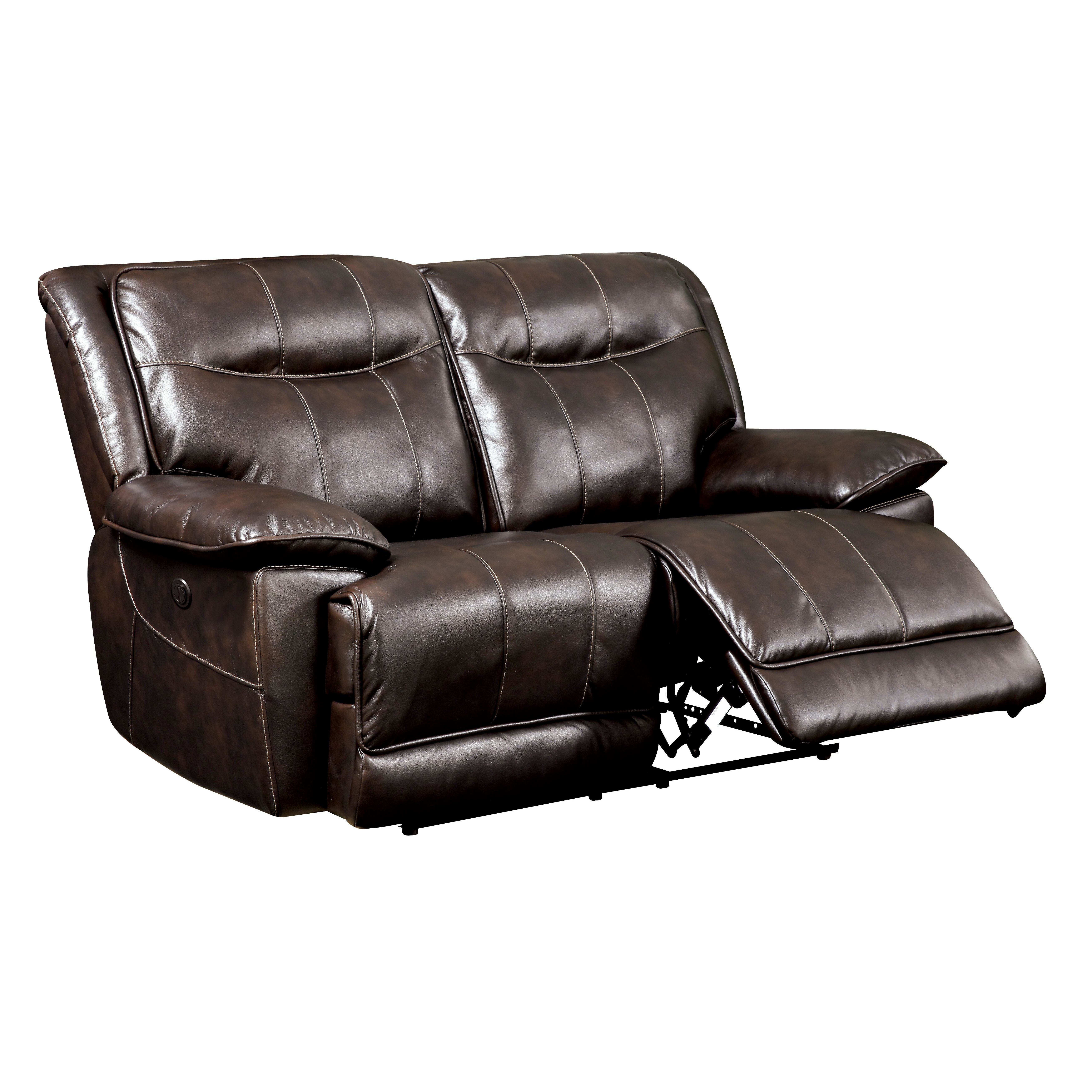 Darby Home Co Reinhart Leather Reclining Loveseat Wayfair