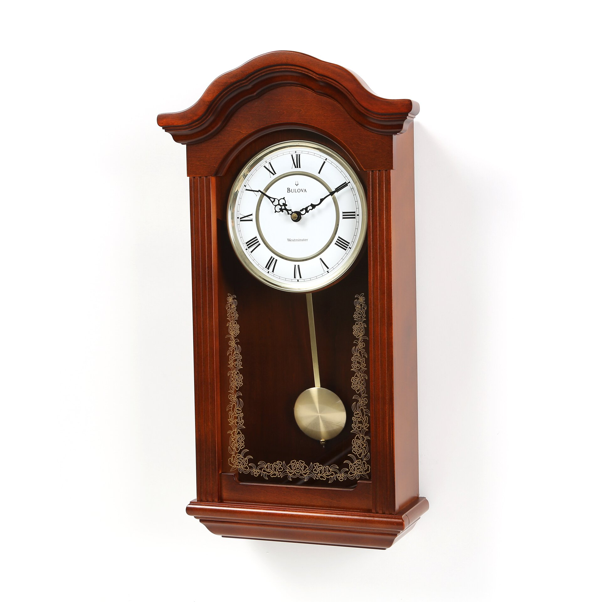 darby home co pendulum wall clock reviews wayfair