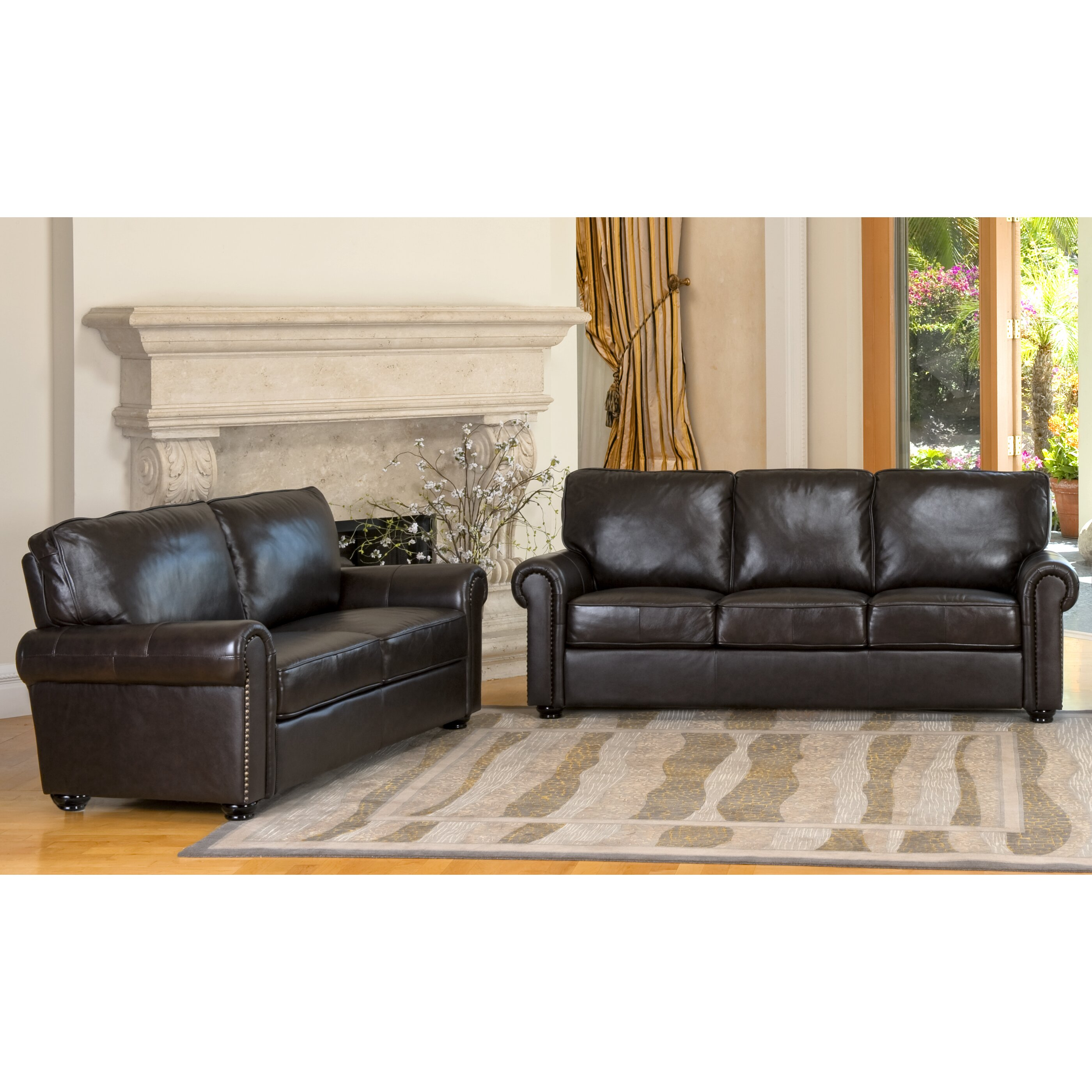 Darby Home Co Coggins Leather Sofa And Loveseat Set