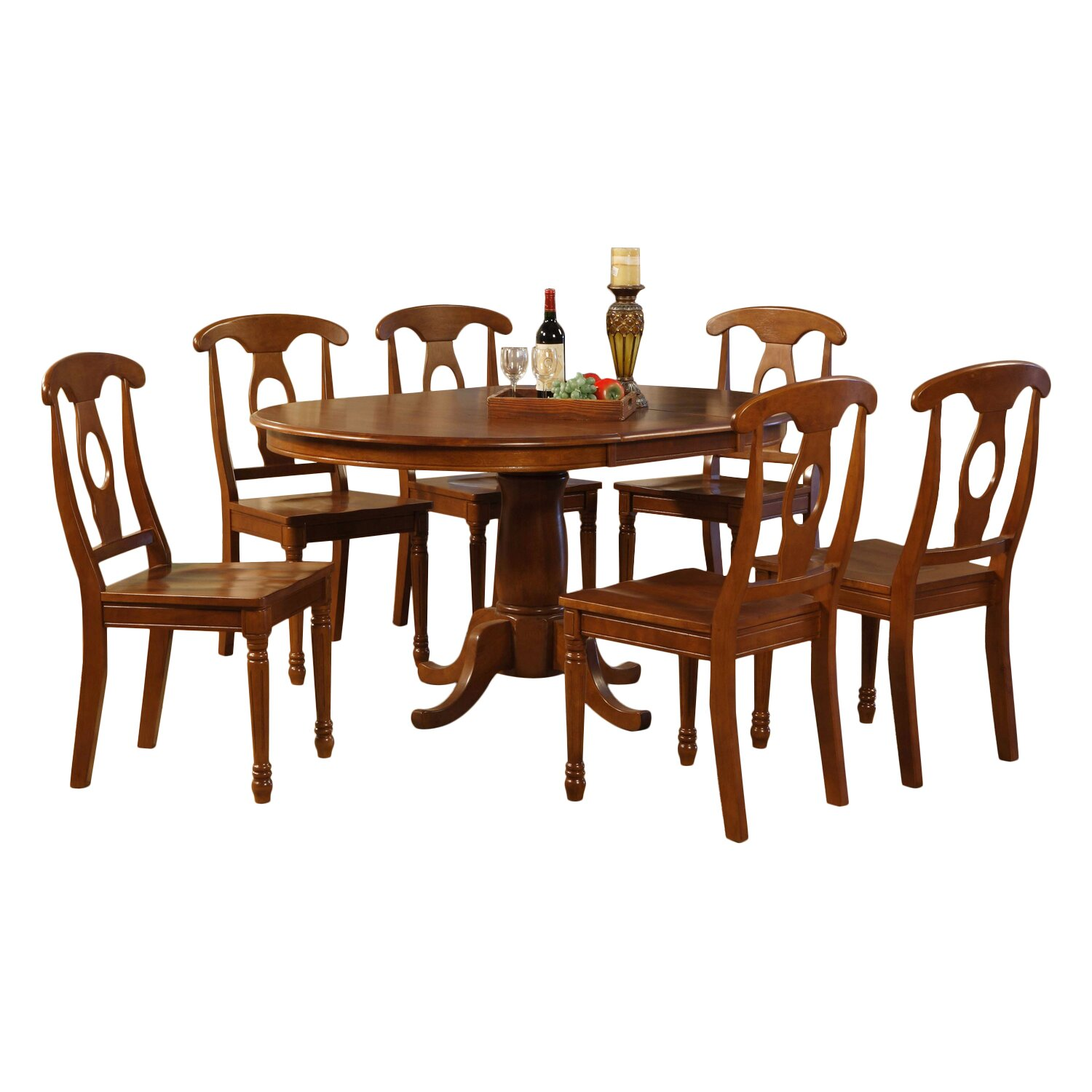 Darby home co stella 7 piece dining set reviews wayfair for 7 piece dining set