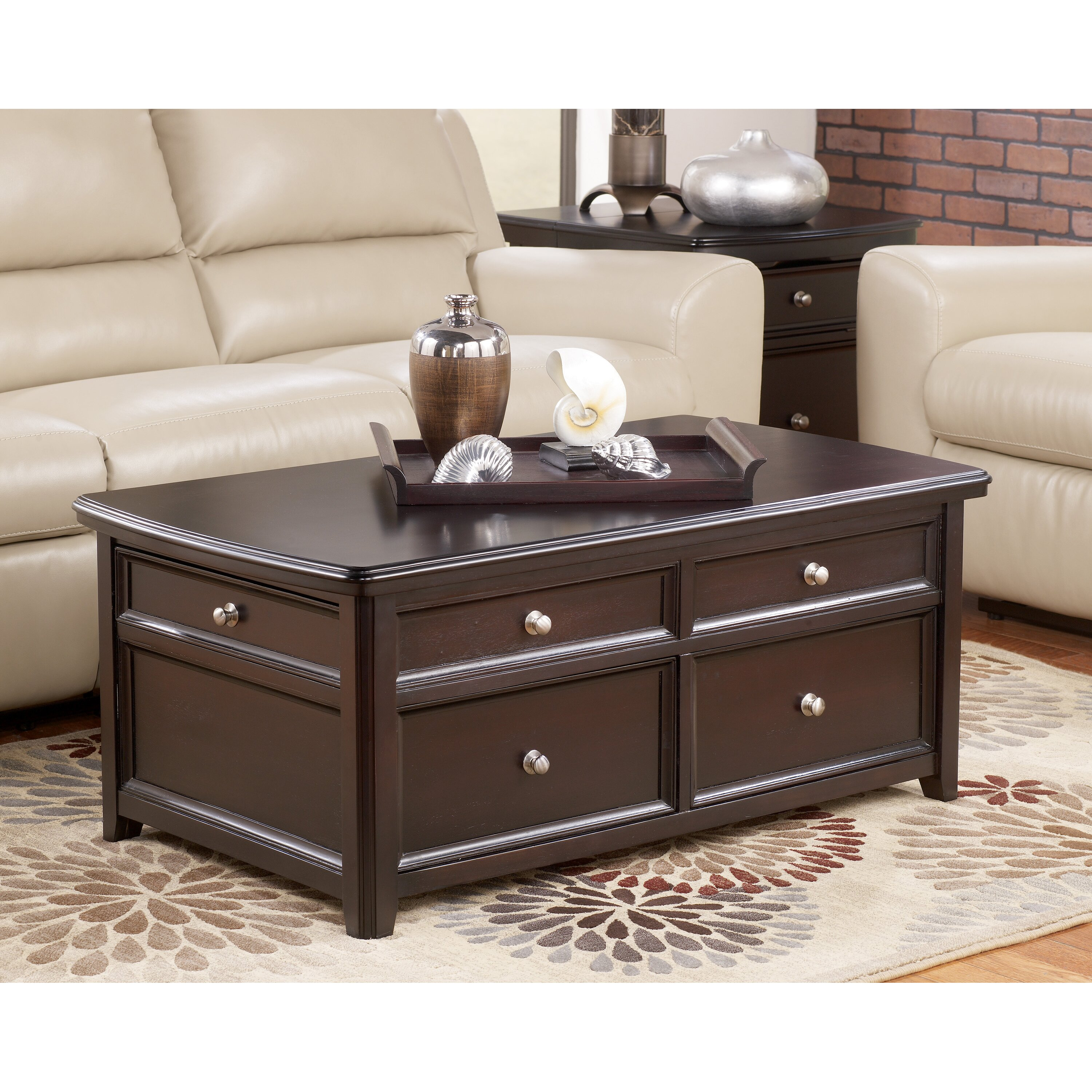 Darby Home Co Hancock Trunk Coffee Table With Lift Top Reviews Wayfair