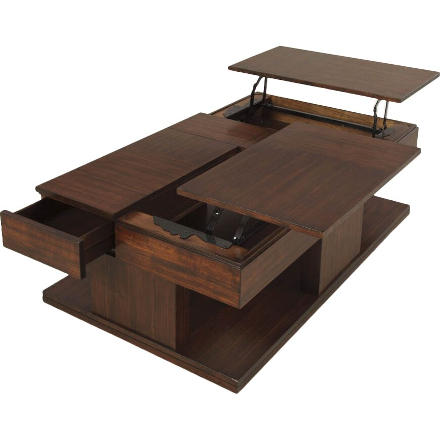 Darby Home Co Dail Coffee Table With Double Lift Top Reviews Wayfair
