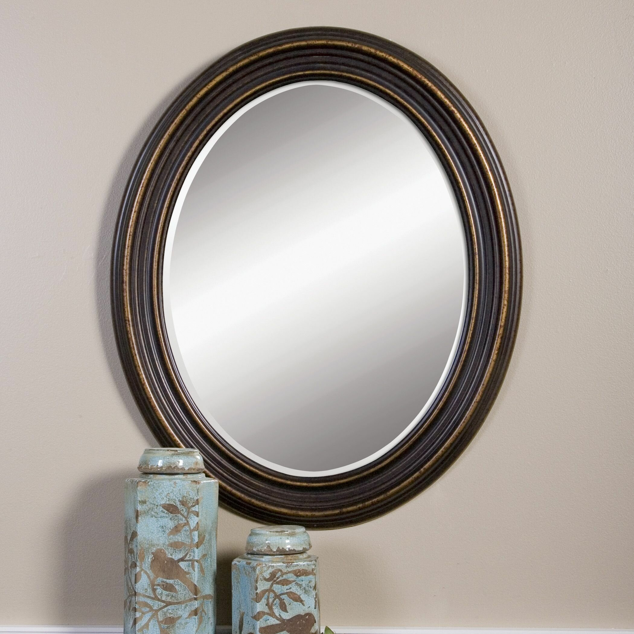 Darby Home Co Burnes Oval Wall Mirror Reviews Wayfair