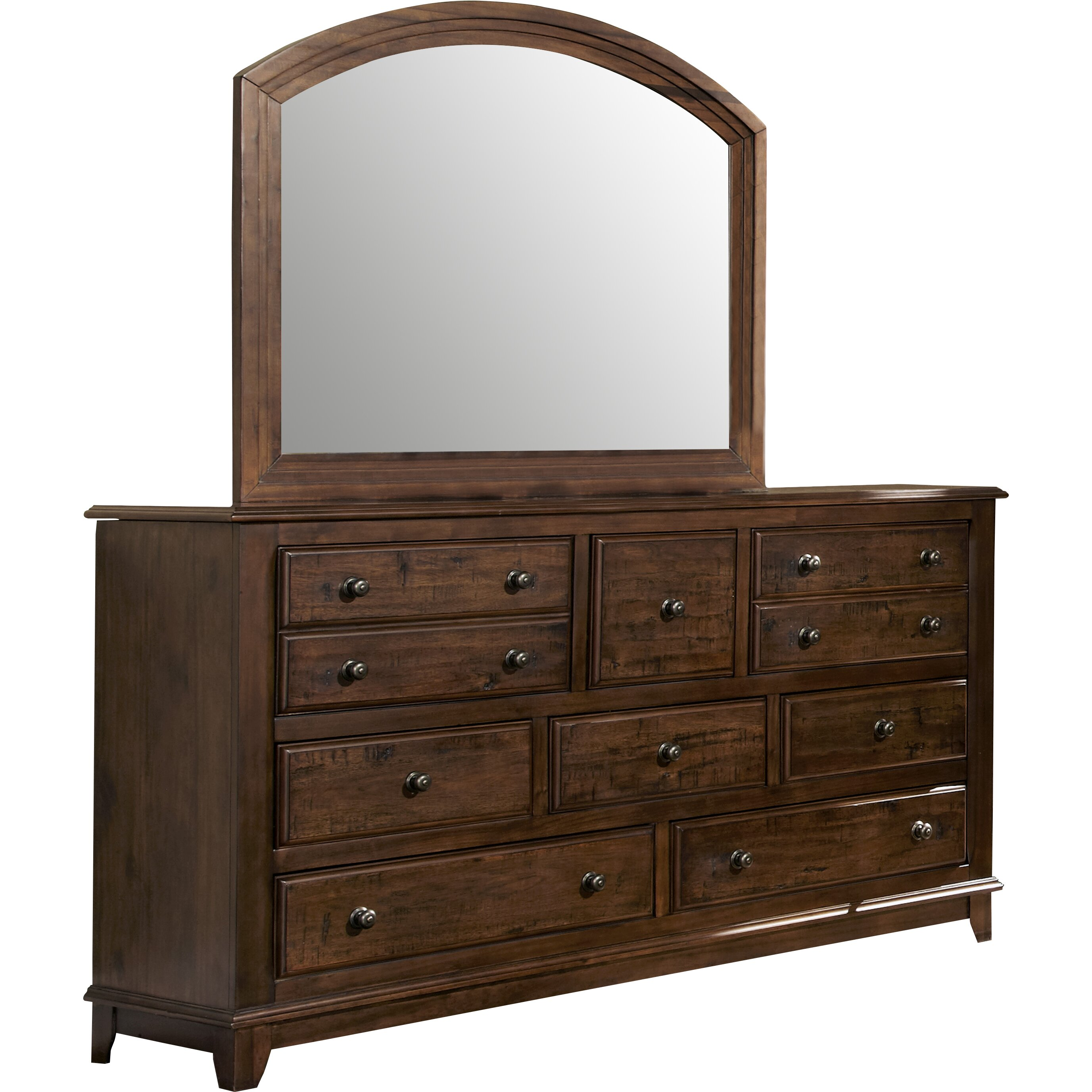 Darby Home Co Newbury 8 Drawer Dresser With Mirror Reviews Wayfair